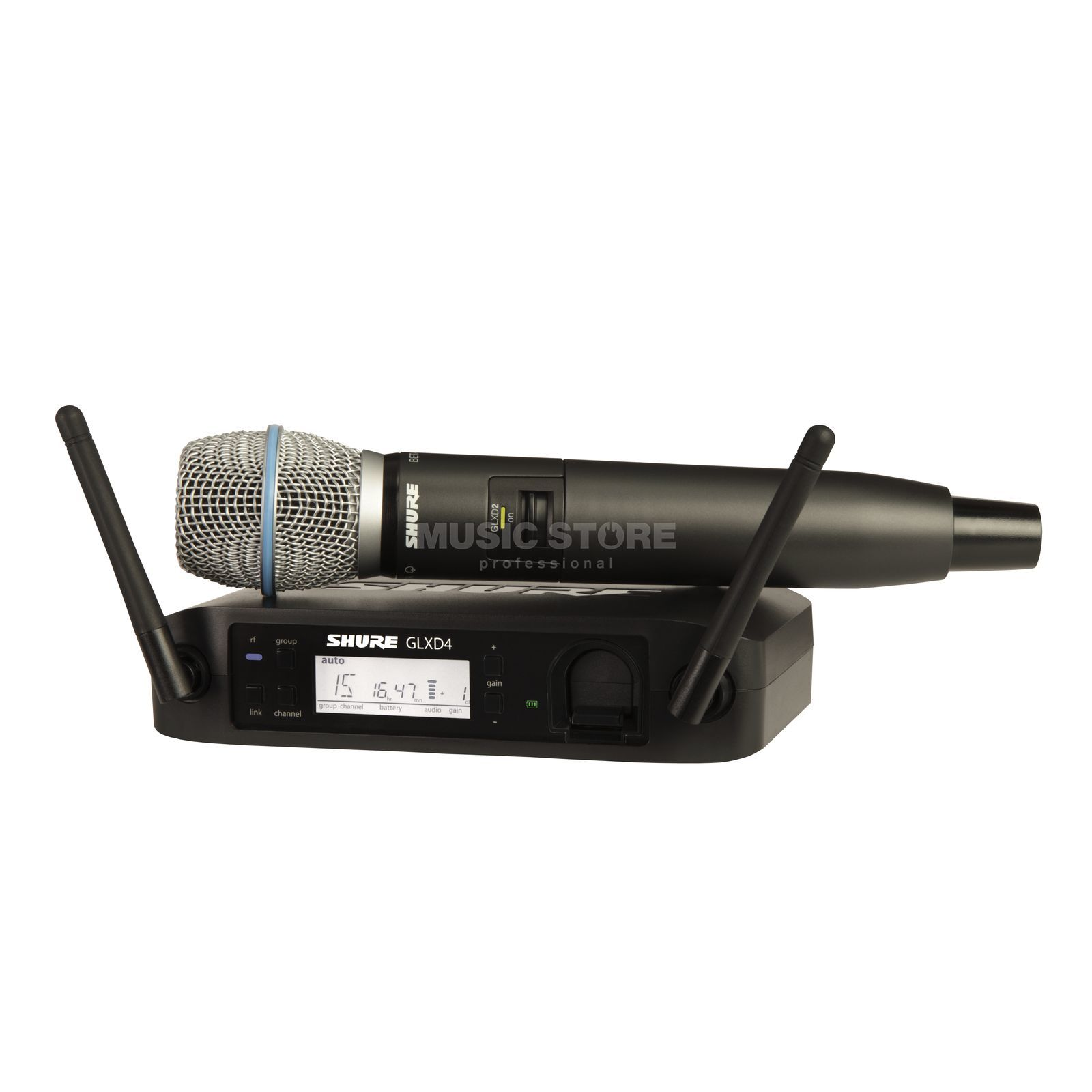 Shure GLXD24E/B87A Z2, 2,4GHz Wireless Handheld System Product Image