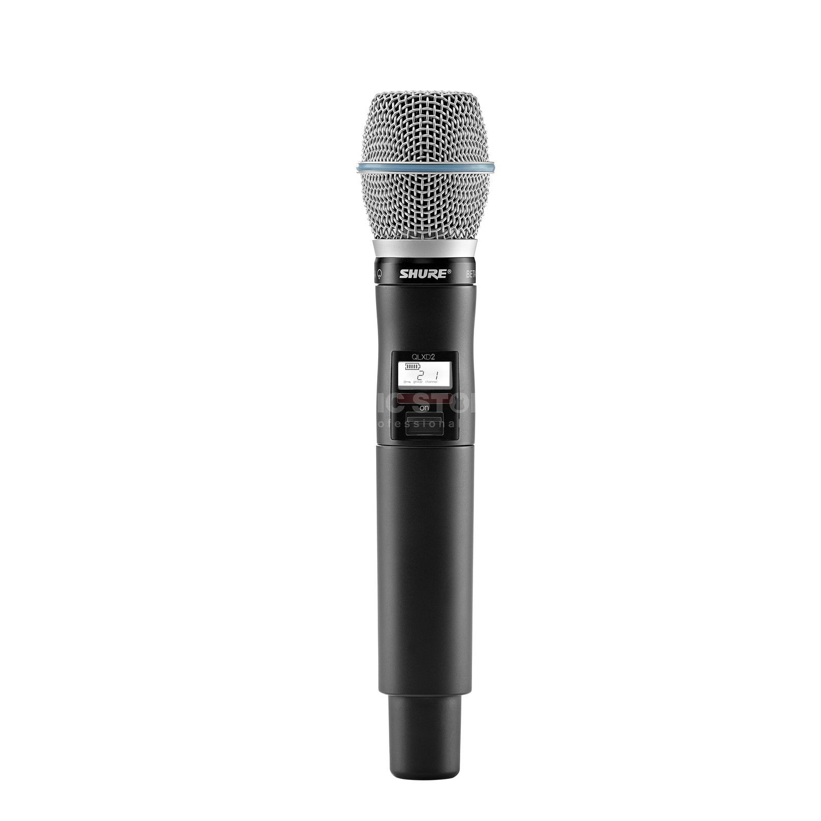 Shure QLXD2/B87A, S50 Handheld Transmitter with Beta 87A Produktbillede
