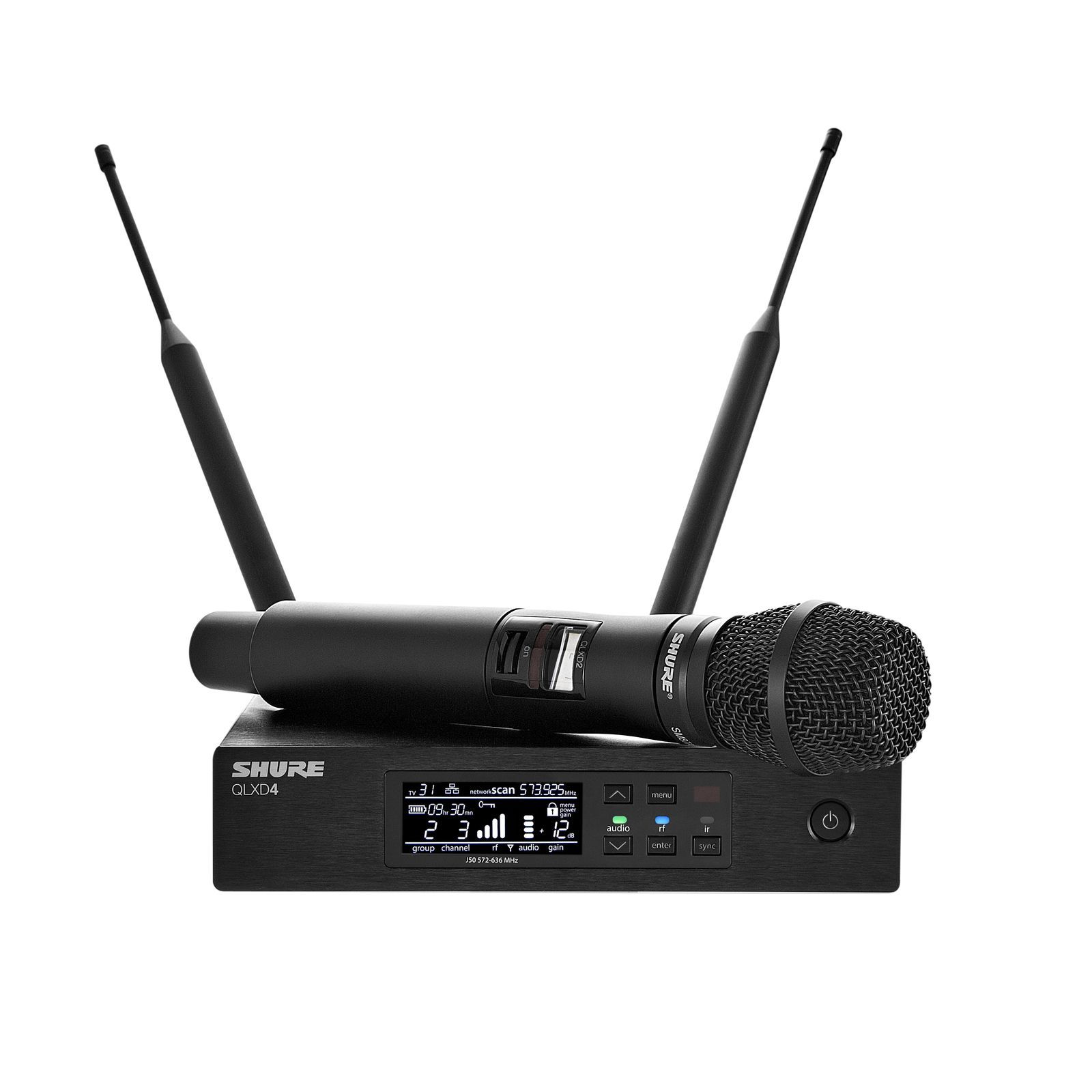 Shure QLXD24E/SM87, S50 Handheld Transmitter System with SM87 Product Image