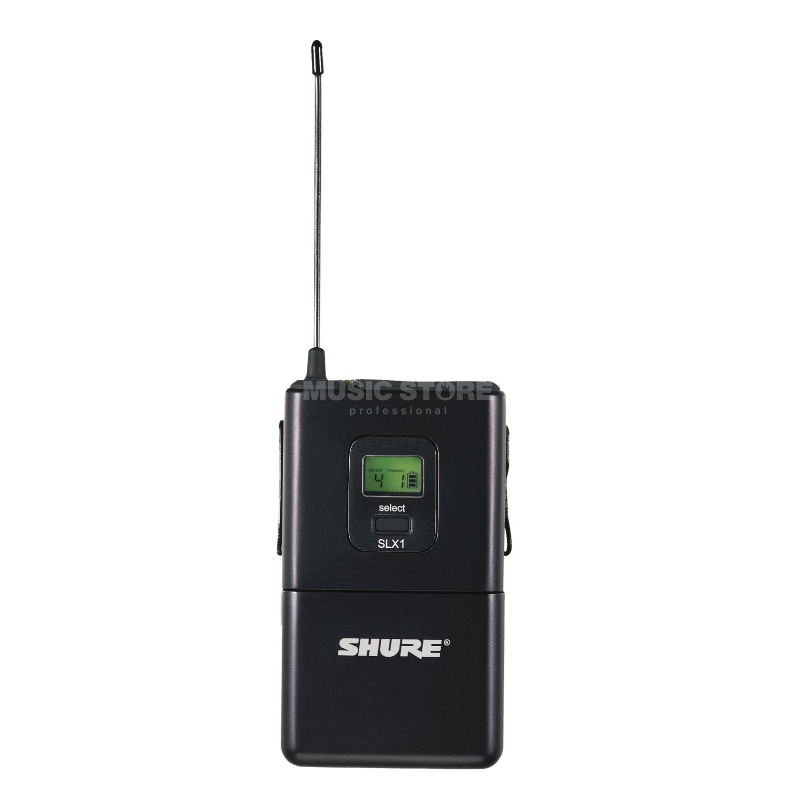 Shure SLX1 Wireless Bodypack Transmitter, S6, Channel 70 Produktbillede
