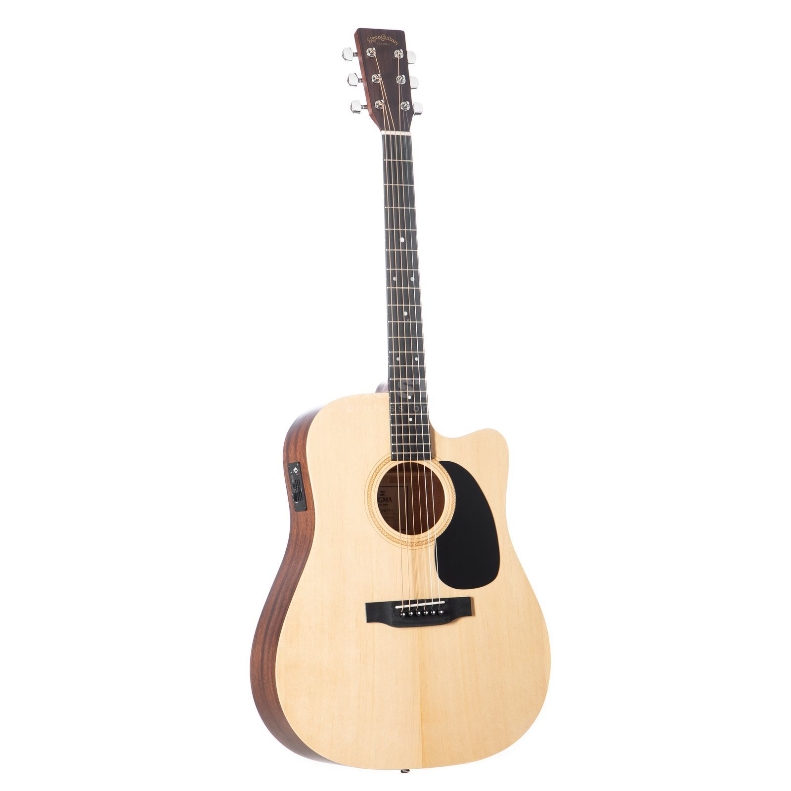 Sigma Guitars DMCE+ Dreadnought Natural Satin Product Image