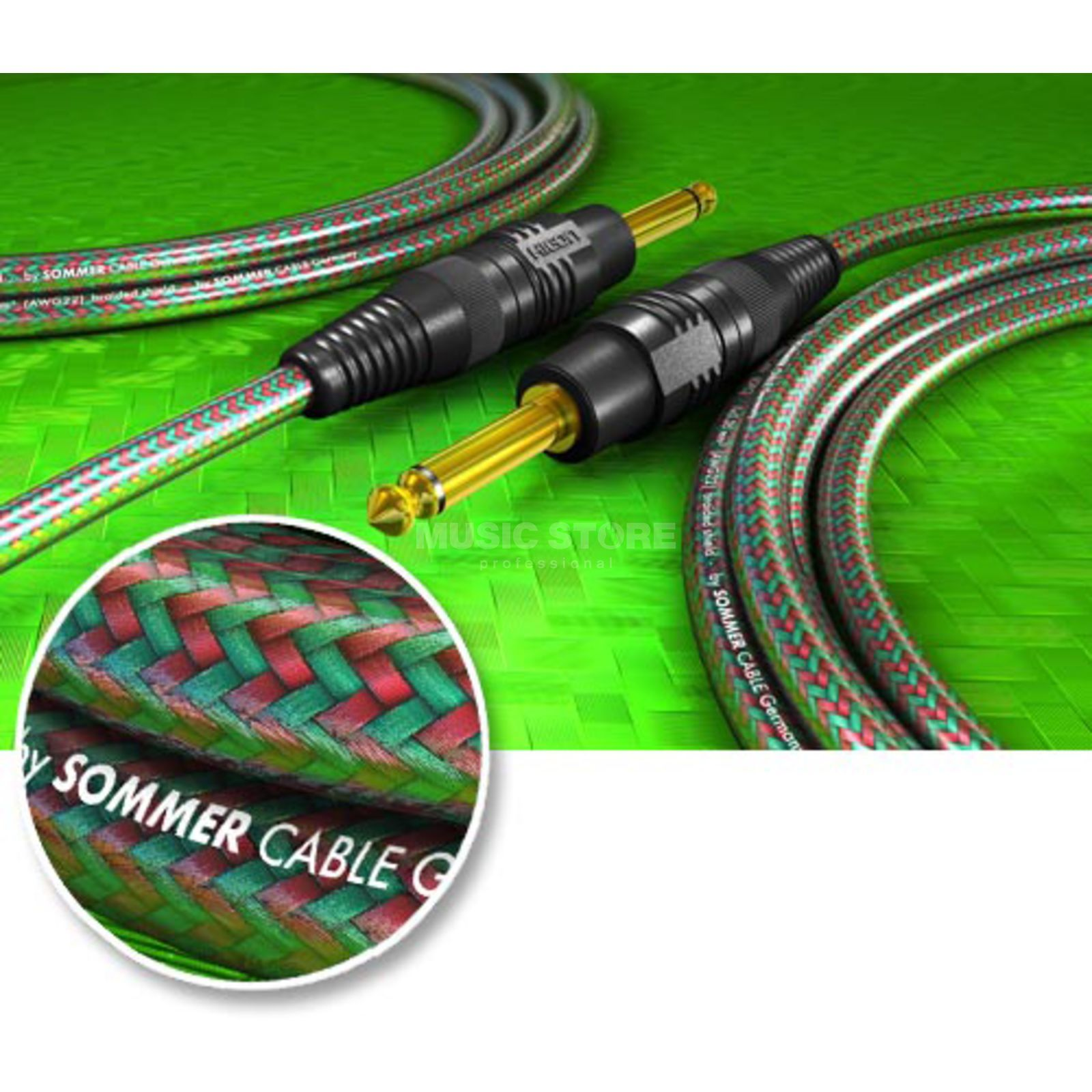 Sommer Cable Instr.-Kabel GRINDYCOP 3m HICON, GBGV-0300 Produktbild