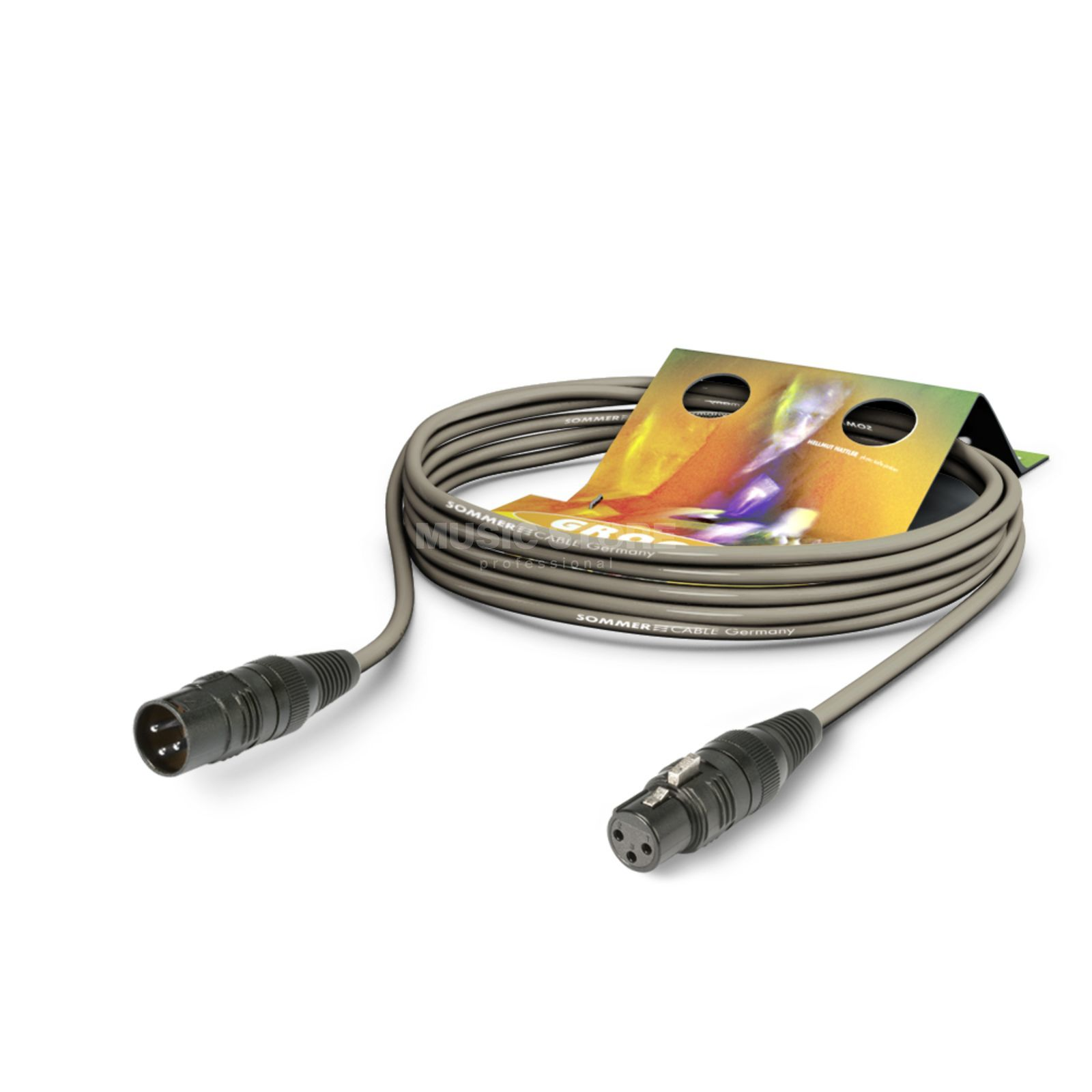 Sommer Cable Mikrofonkabel SC-STAGE 1m grau HICON, SGCE-0100 GR Produktbild