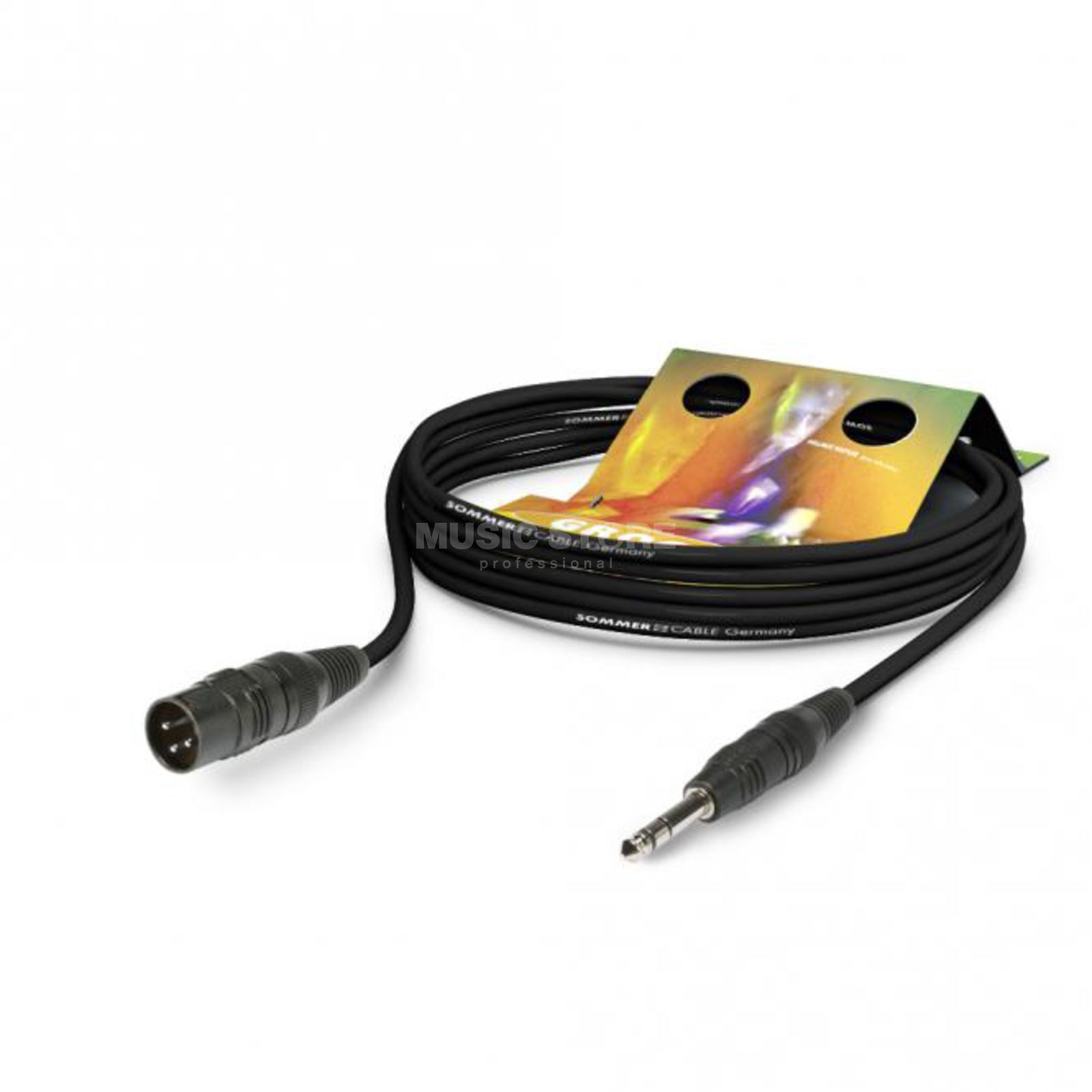 Sommer Cable Mikrokabel STAGE XLRm-Kli 10m schwarz HICON, SGFD-1000-SW Product Image