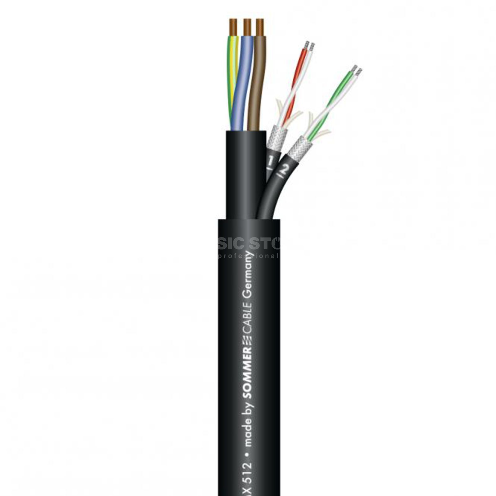 Sommer Cable MONOLITH 2 DMX- / StromCable 50m, 3x2.5mm²/2x0.25mm² Produktbillede