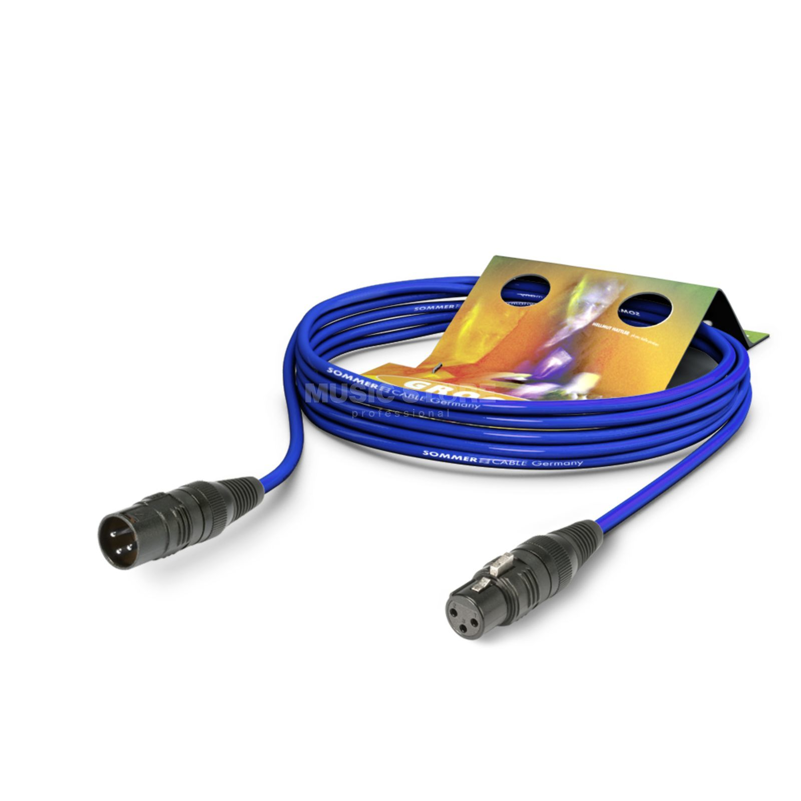 Sommer Cable SGCE-0100 BL Microphone Cable 1m blue, HICON Produktbillede