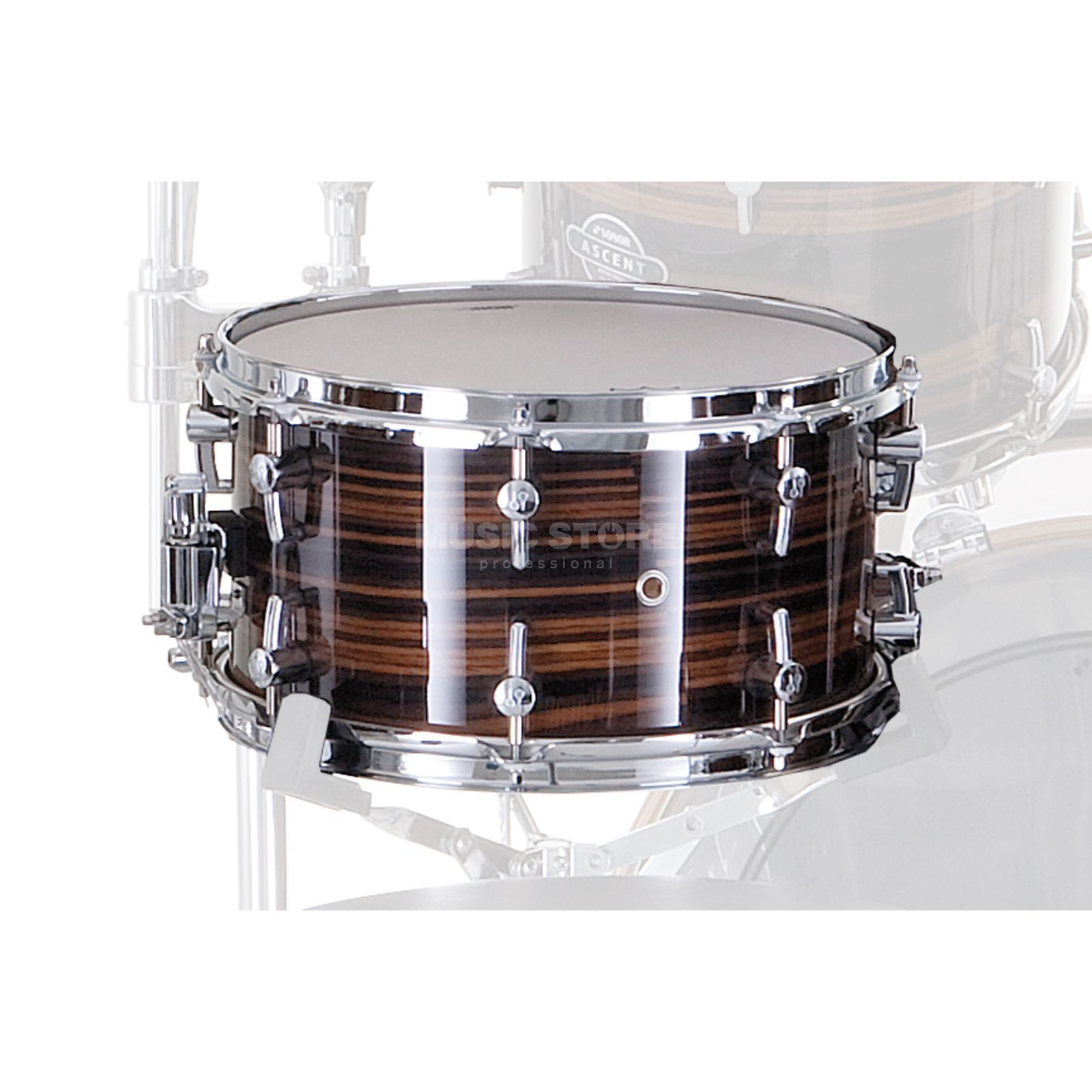 "Sonor Ascent Snare 14""x6,5"", Ebony Stripes #27 Produktbild"