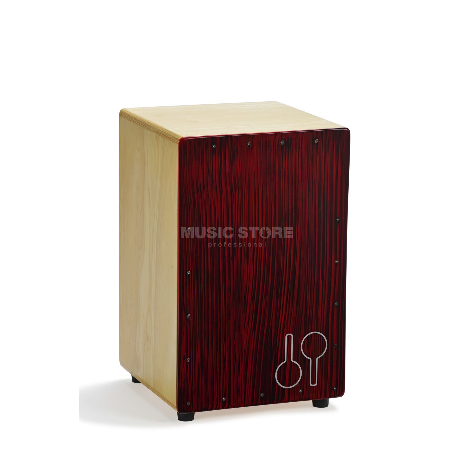 Sonor Cajon Mosquito CAJ RBS, Red Black Stripes Produktbillede