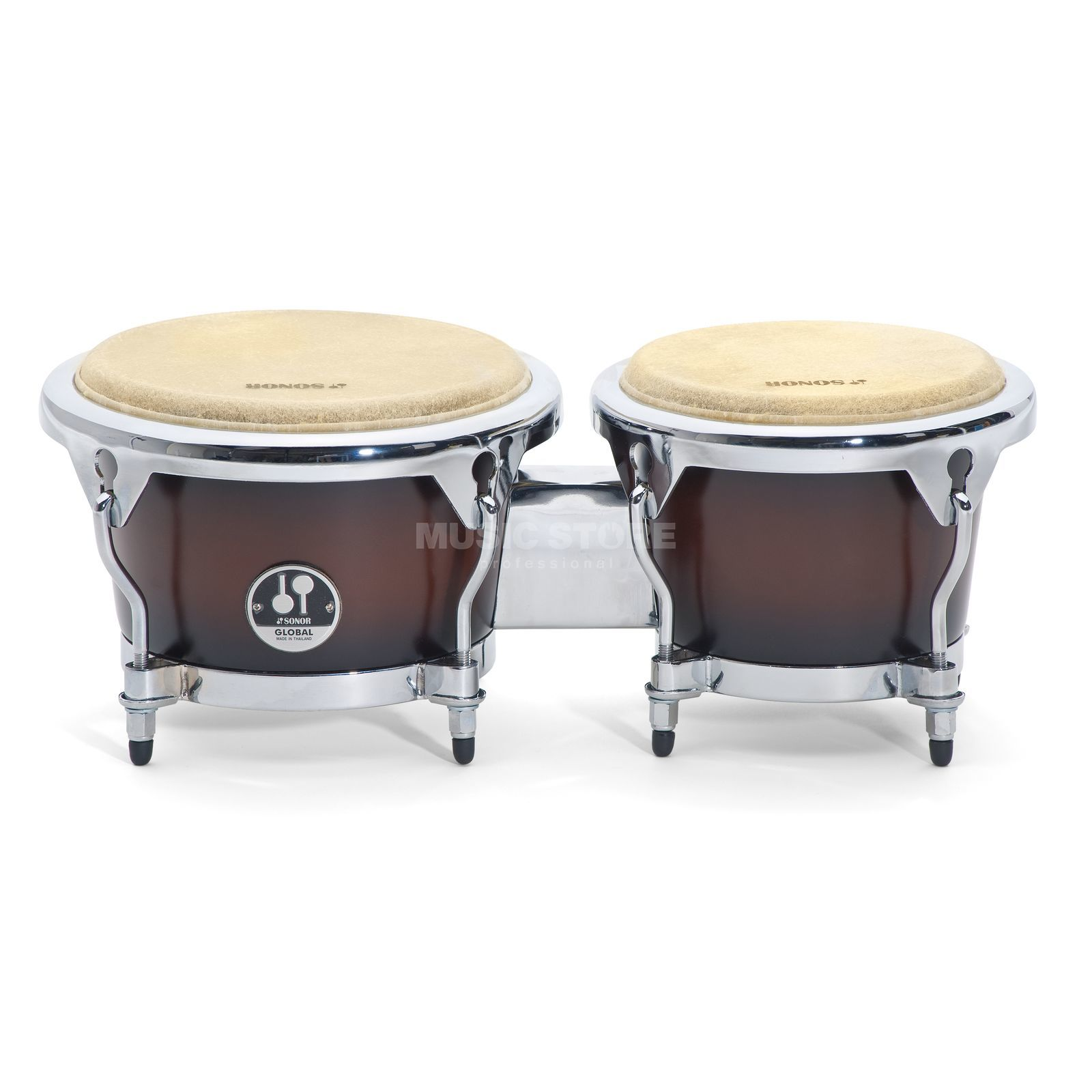 "Sonor Global Bongos GBF 7850 BF, 7""+8 1/2"", Brown Fade Product Image"