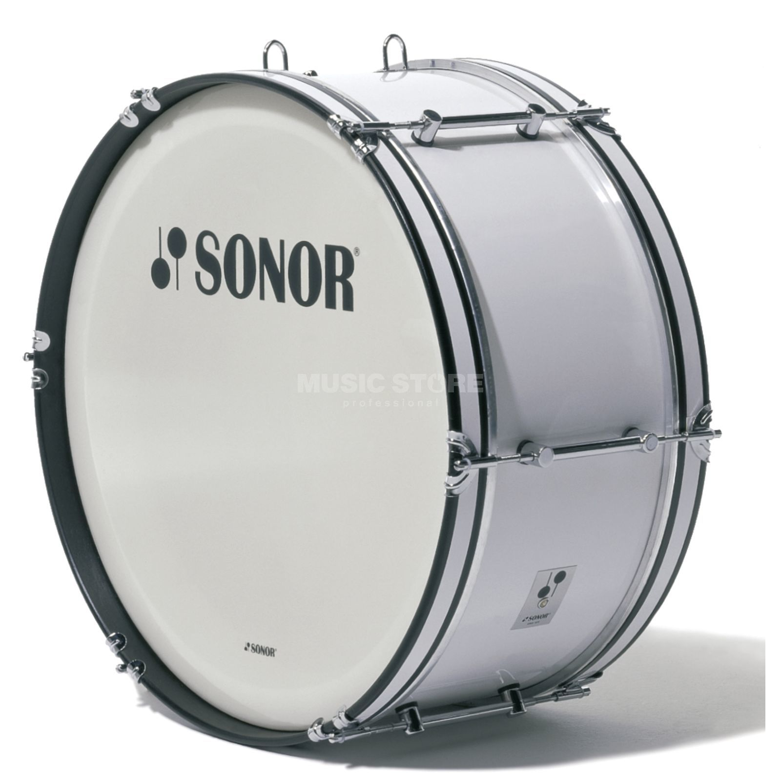 "Sonor Marching BassDrum MB2410CW, 24""x10"", B-Line Serie, white Produktbild"