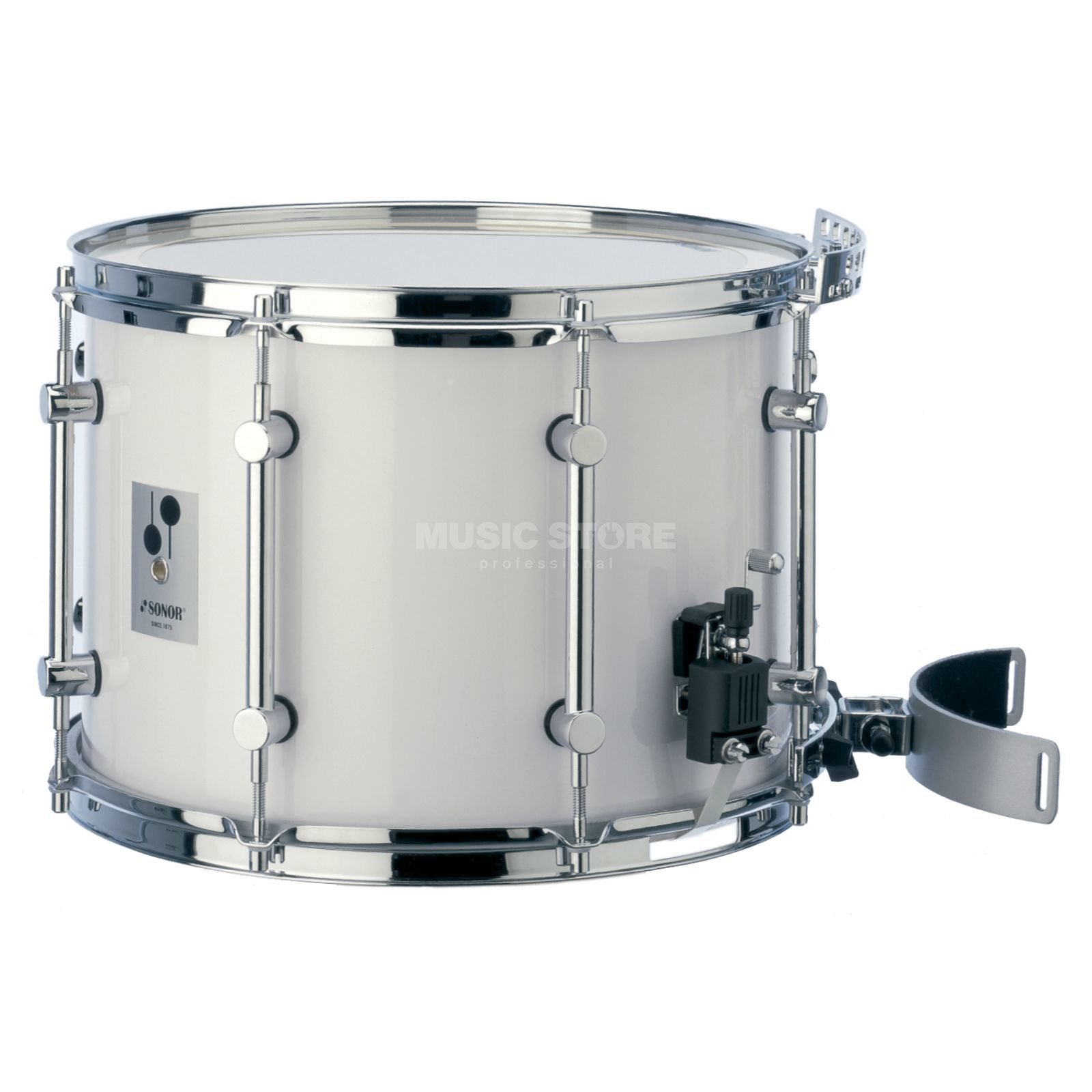 "Sonor Marching Snare MB1410CW, 14""x10"", B-Line Series, white Produktbillede"