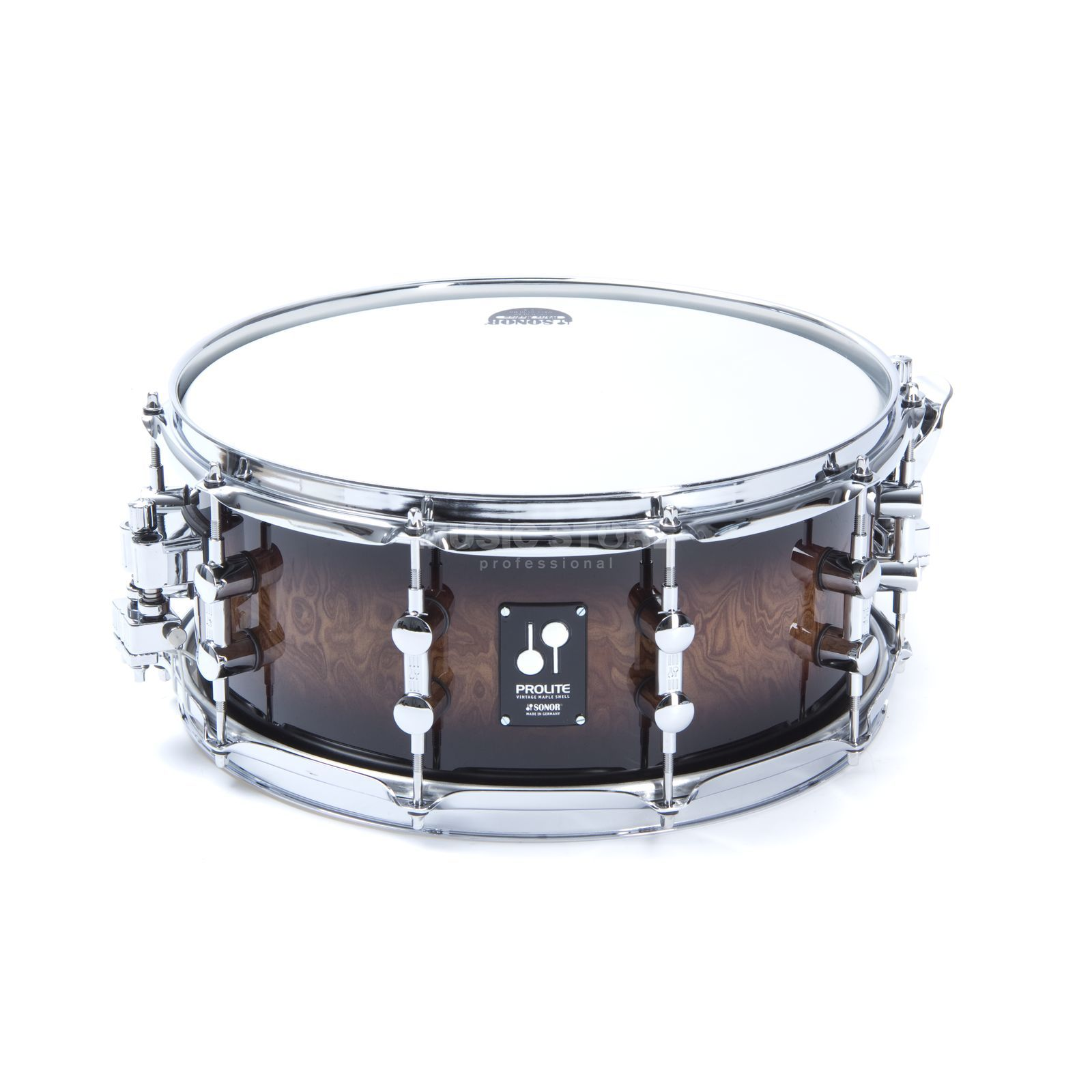 "Sonor ProLite Snare PL 12 1406 SDW, 14""x6"", Walnut Brown Burst #87 Produktbild"