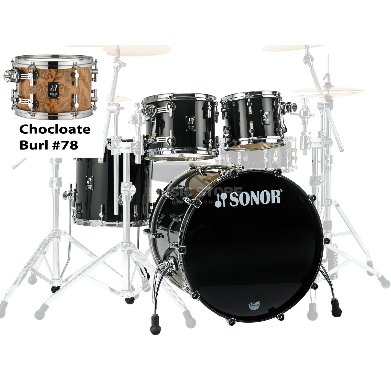 Sonor ProLite Stage 3, Chocolate Burl #79 Produktbillede