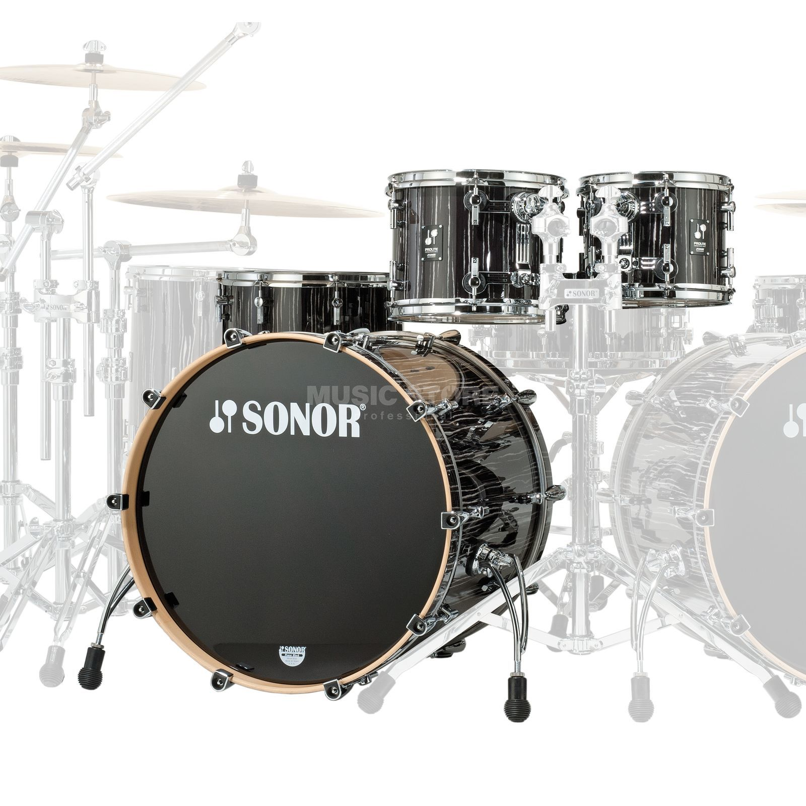 Sonor ProLite Stage 3, Ebony White Stripes #77 Immagine prodotto