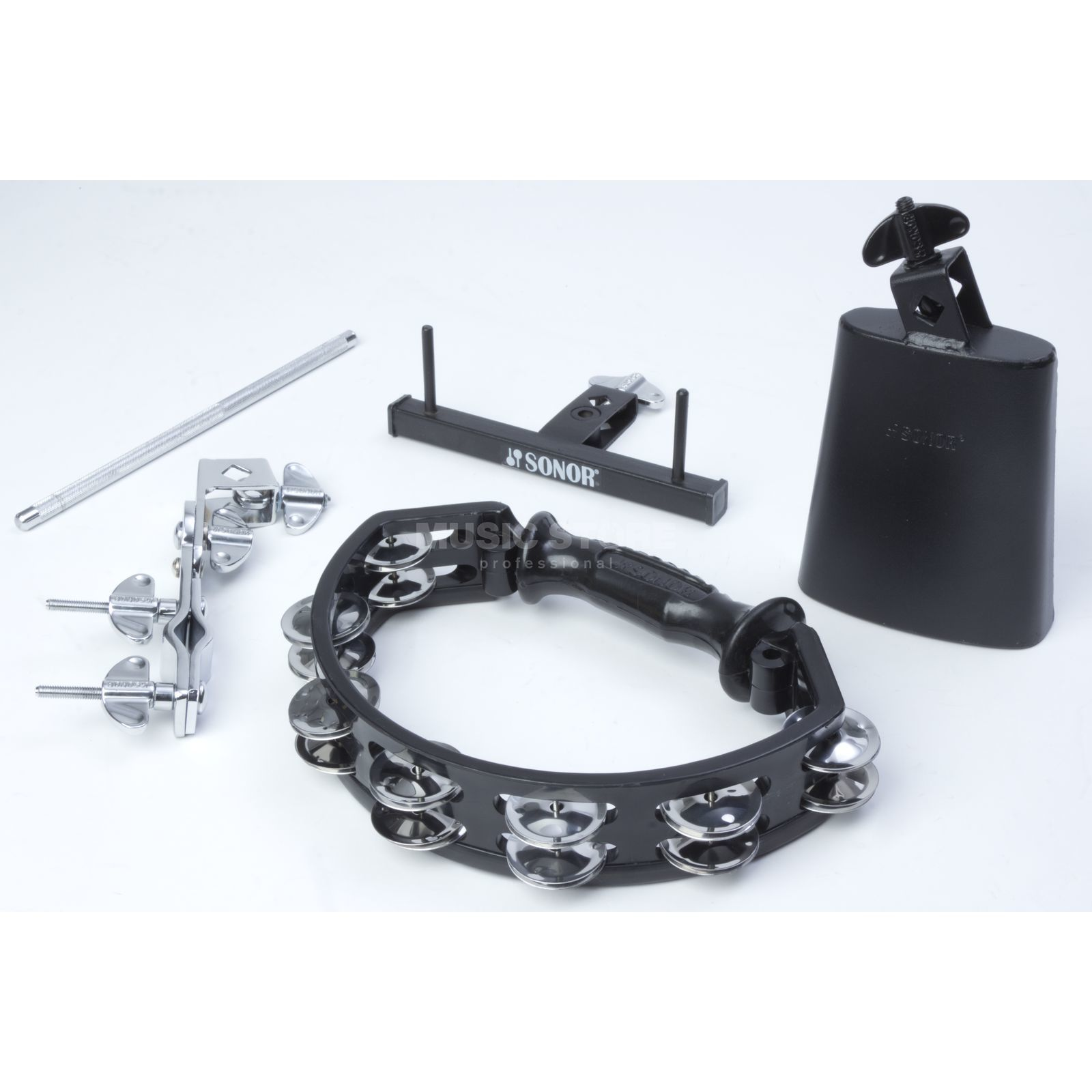 Sonor RHYTHM Add-on Package Cowbell, Tambourine, Holders Produktbillede
