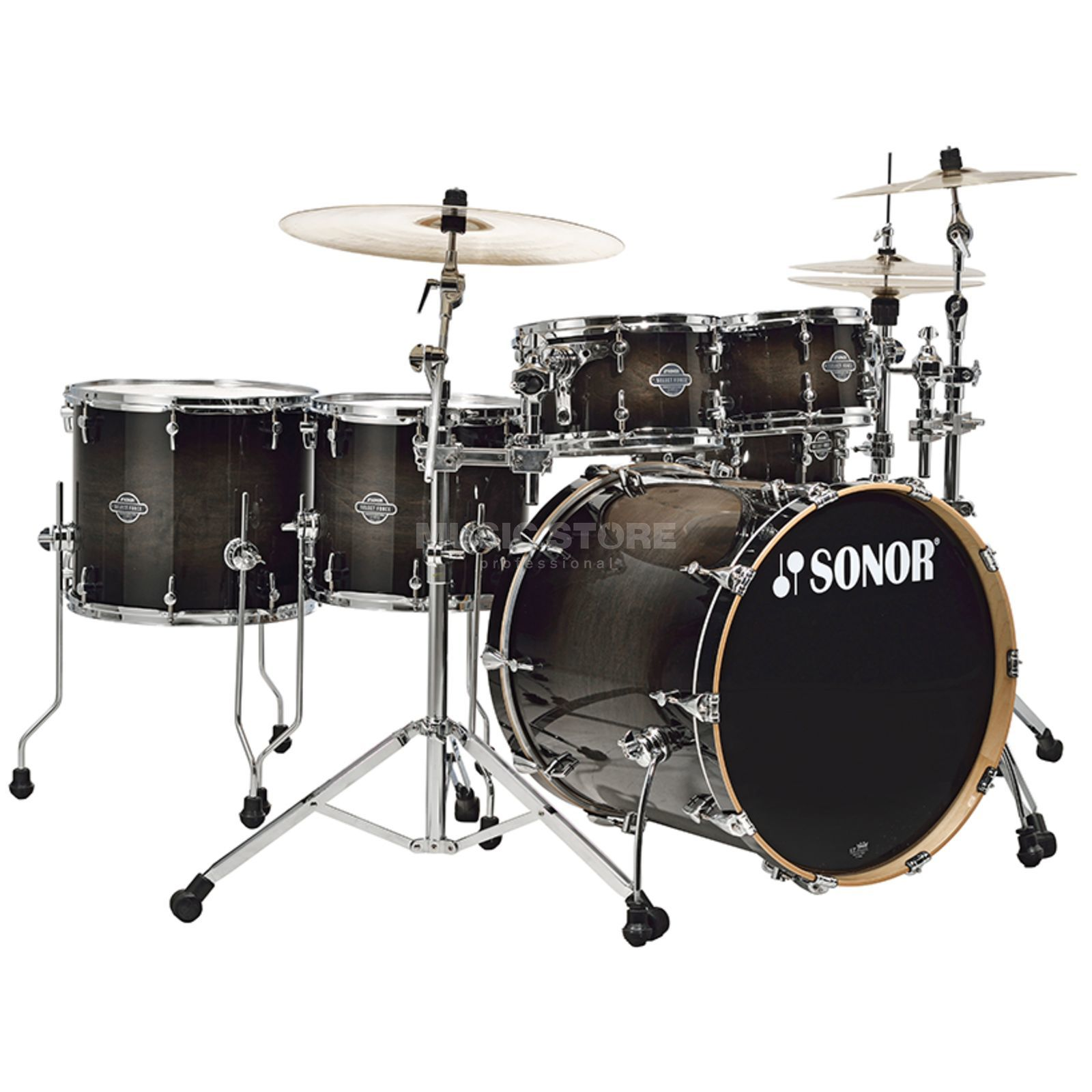 Sonor Select Force Stage 3, Transparent Black Burst #65 Produktbillede