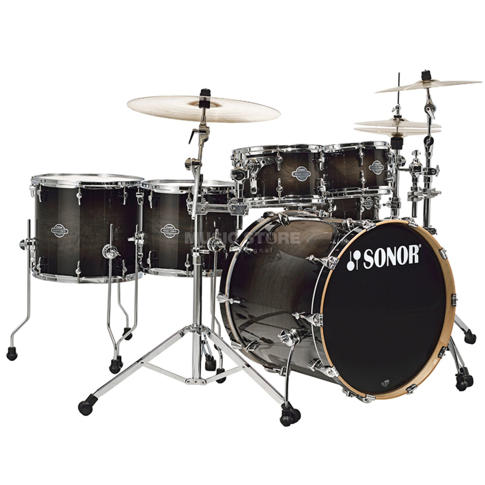 Sonor Select Force Stage S Drive, Transparent Black Burst #65 Produktbillede