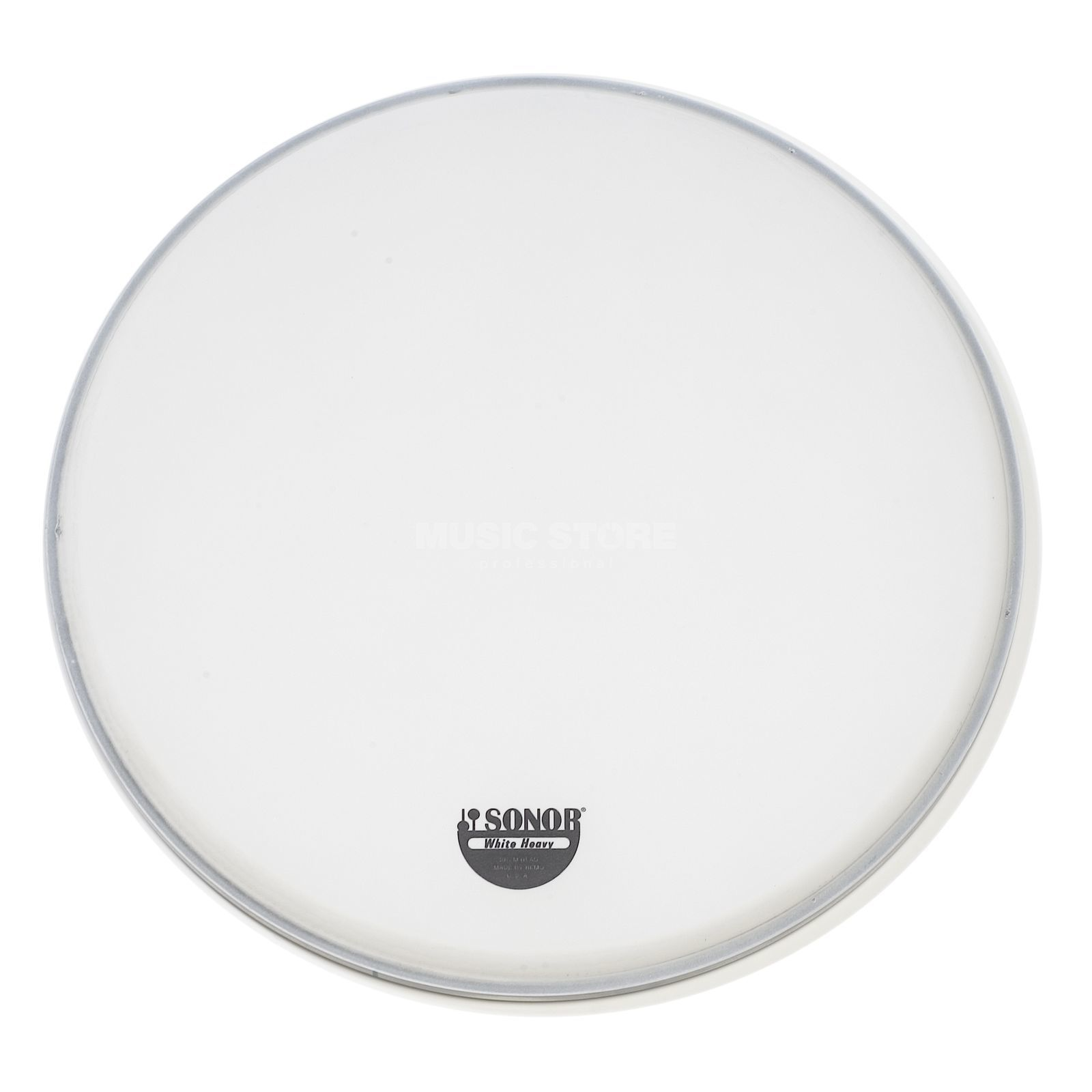 "Sonor Snare Drum Head WH 14, 14"", Marching, coated white, 2-ply Produktbillede"