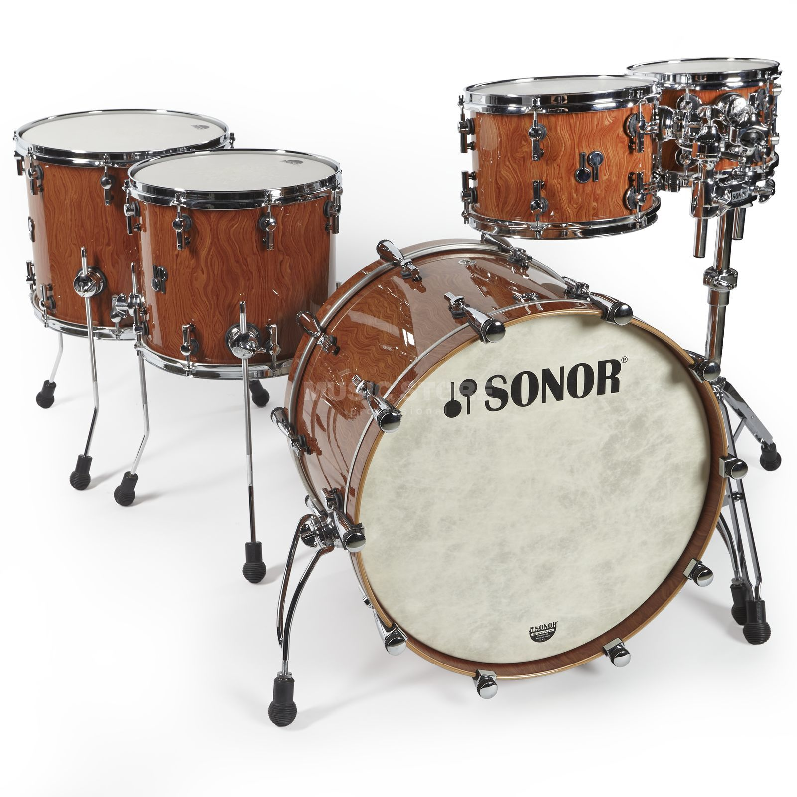 Sonor SQ2 Beech ShellSet, Bubinga Finish Produktbild