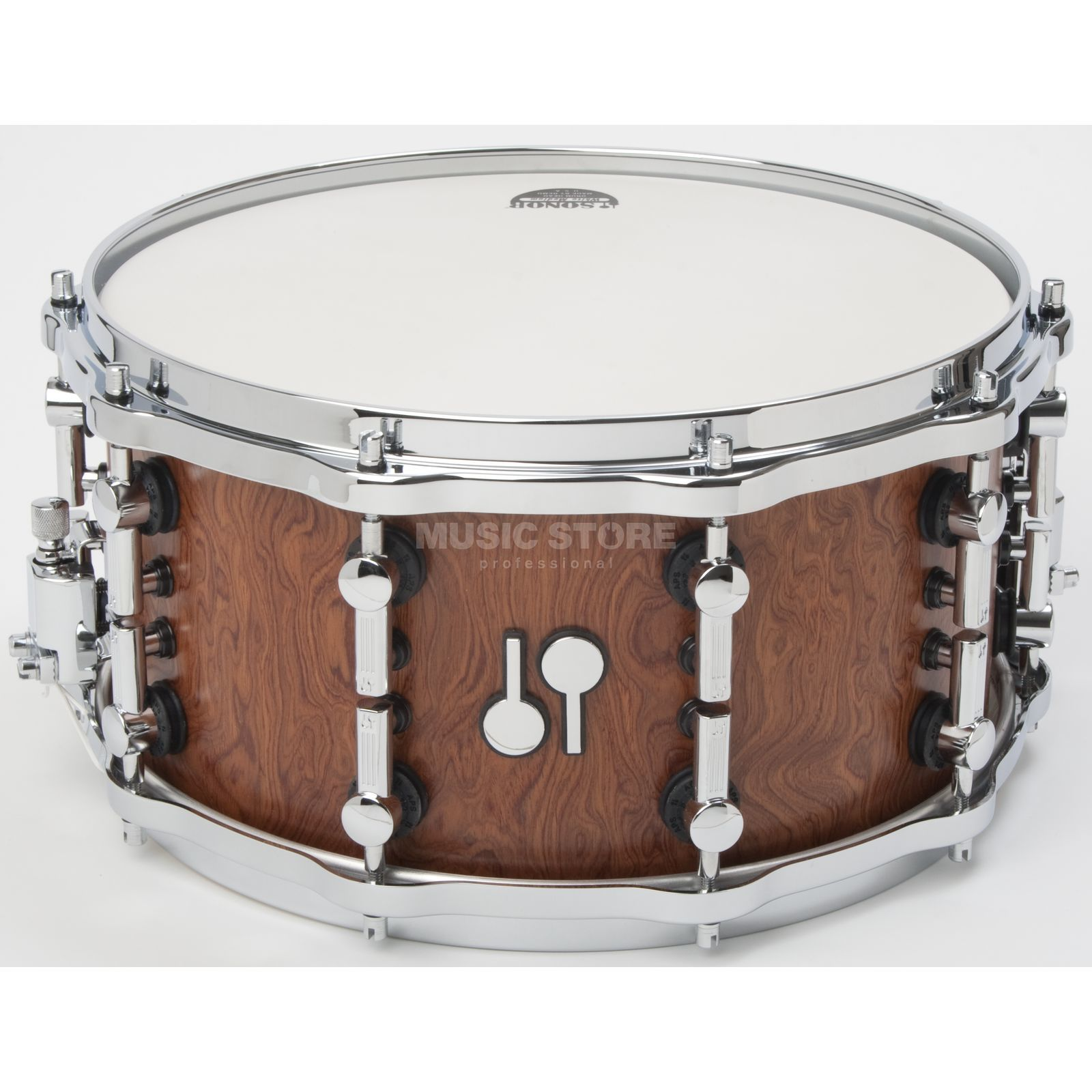 "Sonor SQ2 Maple Snare 14""x7"", Bubinga Furnier Produktbillede"