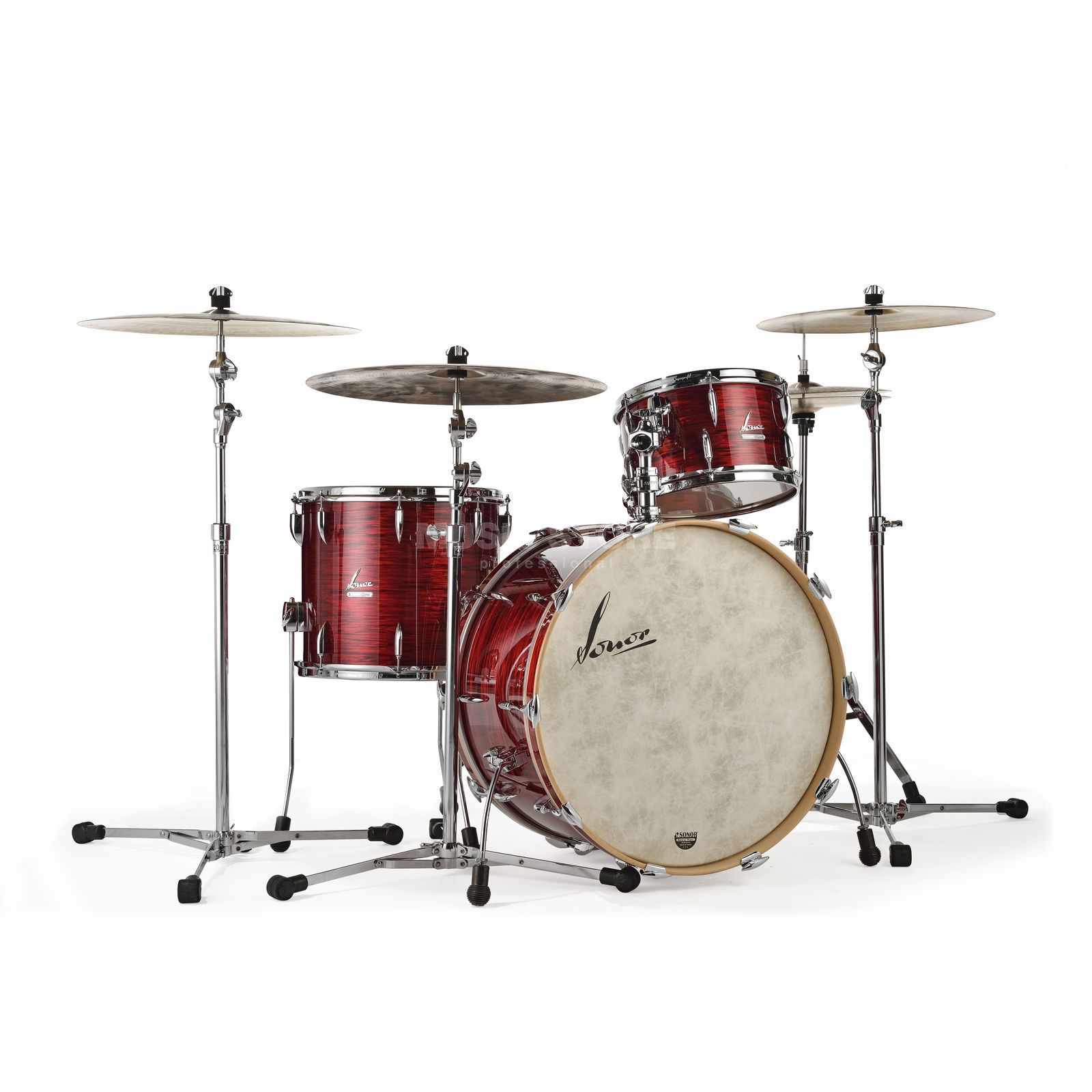 Sonor Vintage Series Three20, Vintage Red Oyster, w/mount Produktbillede