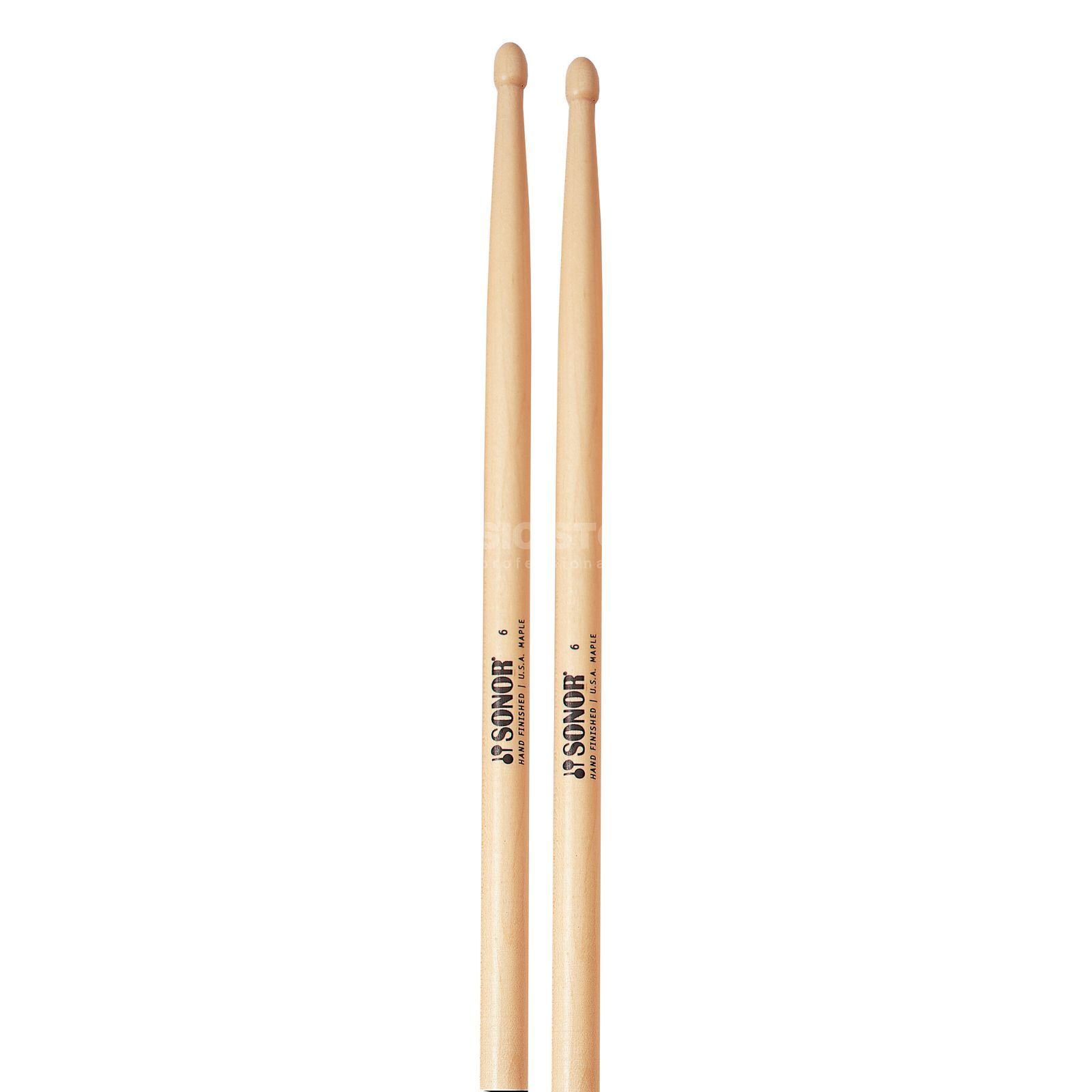 "Sonor Z5640 ""Maple-6"" Sticks, Tip: Oval Product Image"