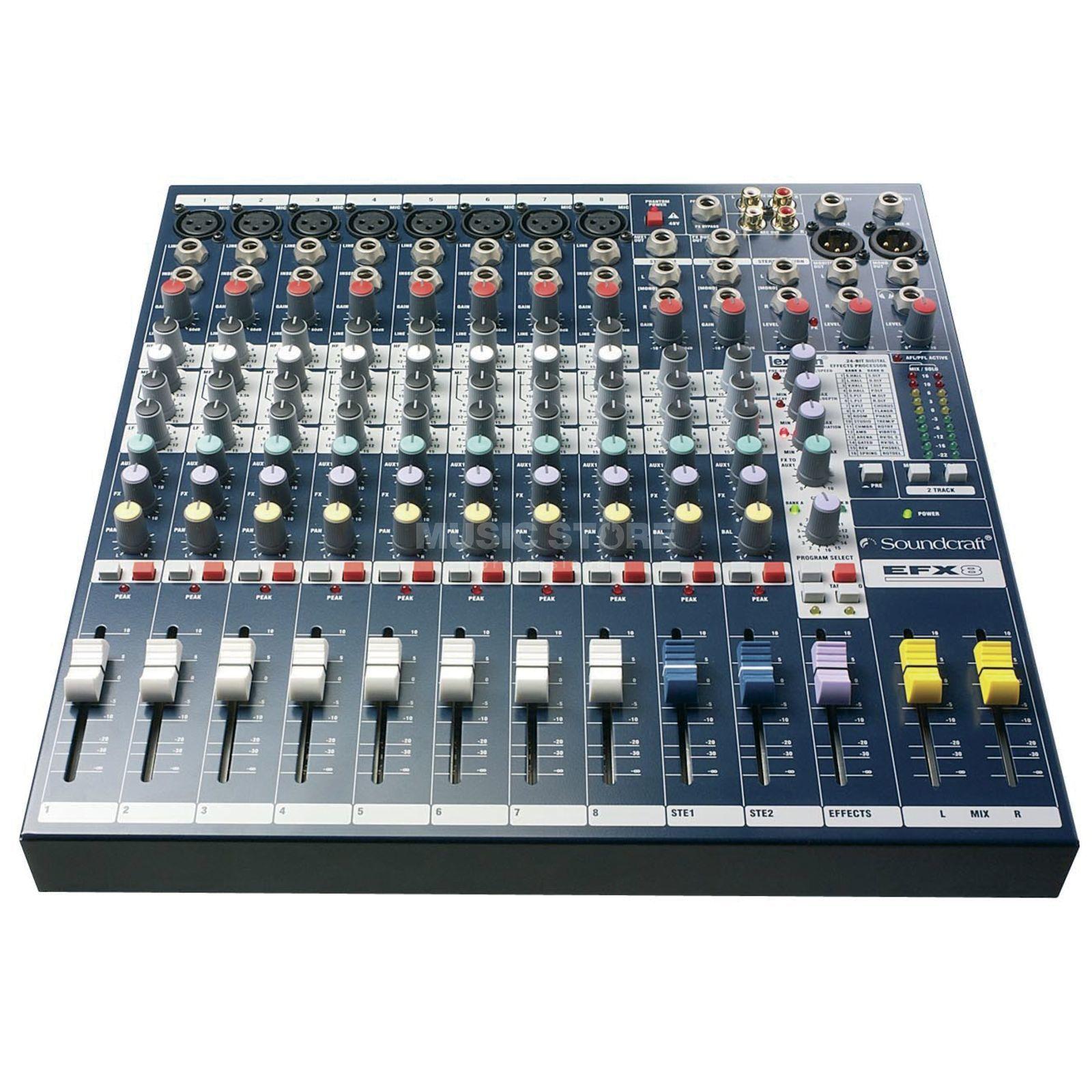 Soundcraft efx 8 mesa de mezcla compacta 8 mono 2 canales est reo fx - Mesa de mezclas 2 canales ...