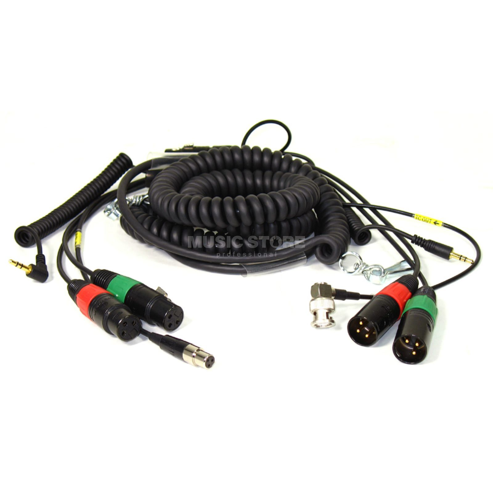 Sounddevices HBS552Y7-35 Spiral Cable for 552 with Timecode Produktbillede