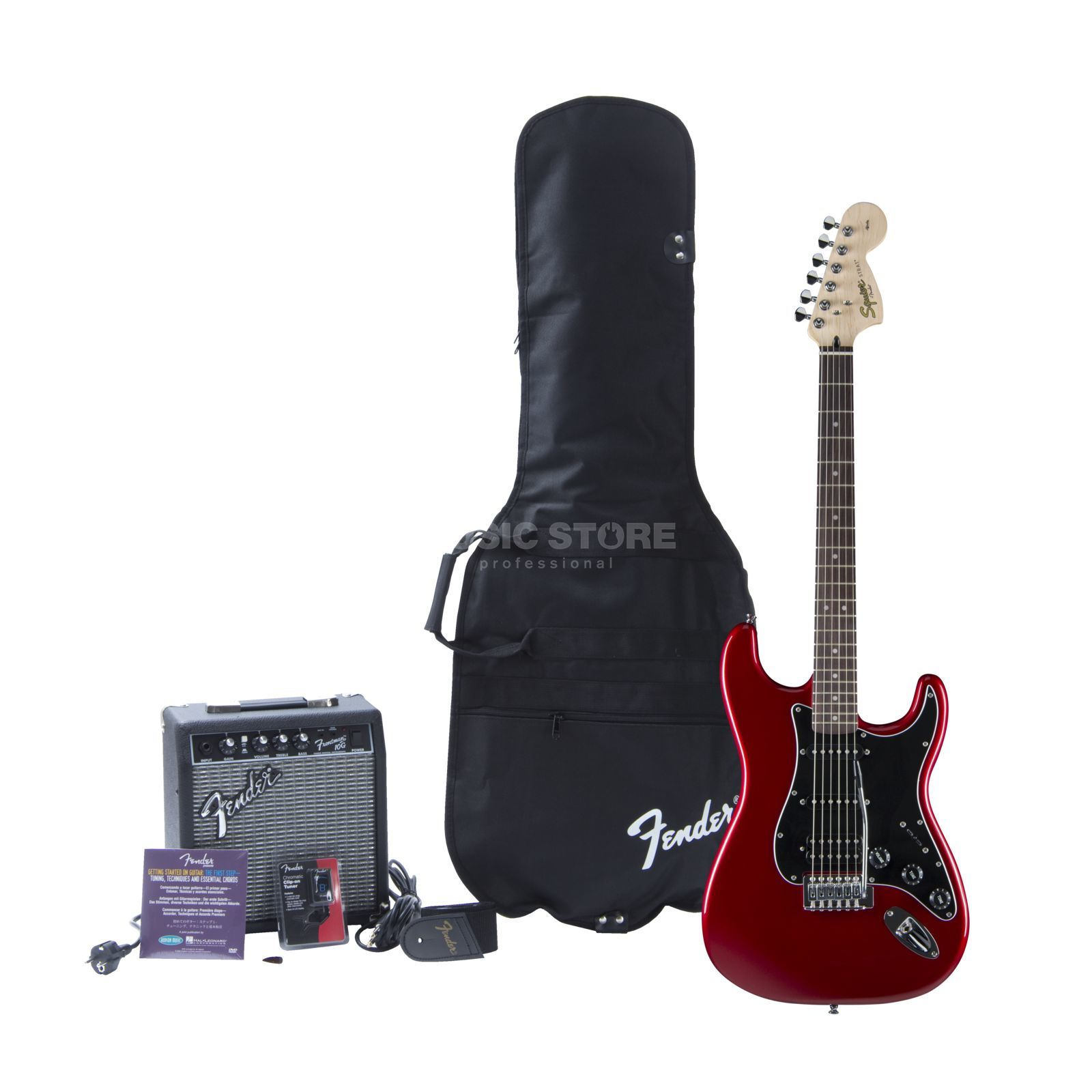 Squier by Fender Affinity Series Strat HSS Pack Candy Apple Red w/ Fender Frontman 15G Amp Produktbild