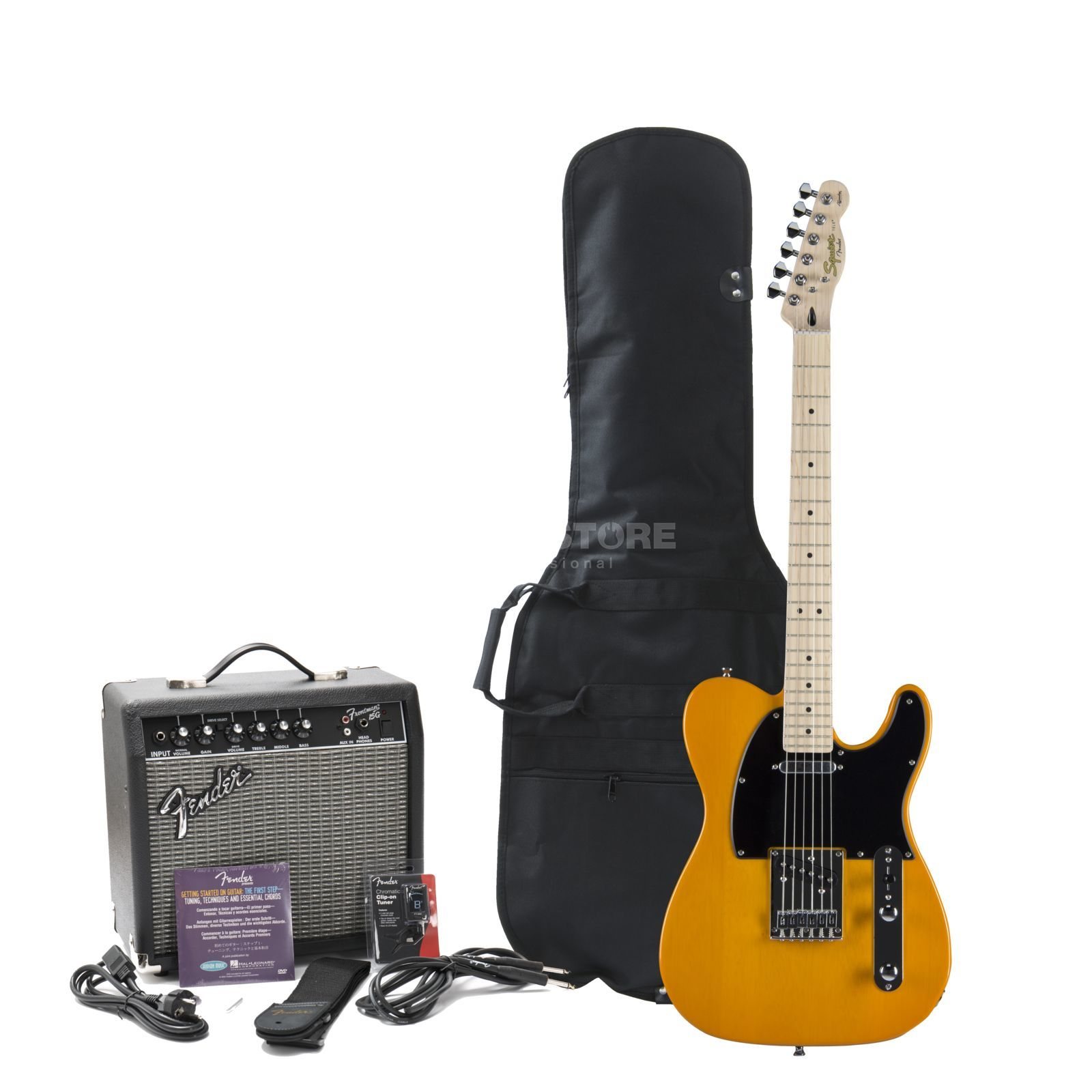 Squier by Fender Affinity Series Tele Pack Butterscotch Blonde w/ Fender Frontman 15G Amp Produktbild
