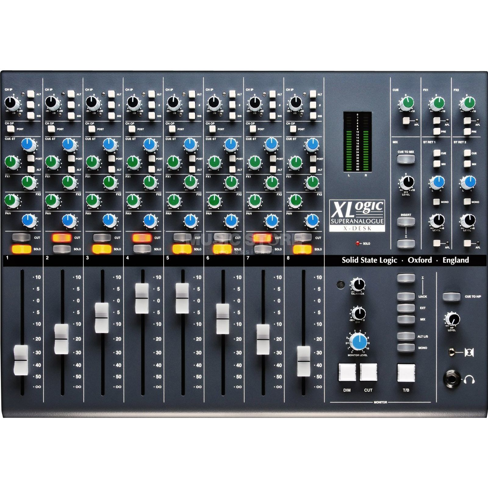 SSL Solid State Logic XLogic SuperAnalogue X-Desk Summing Mixer Produktbillede