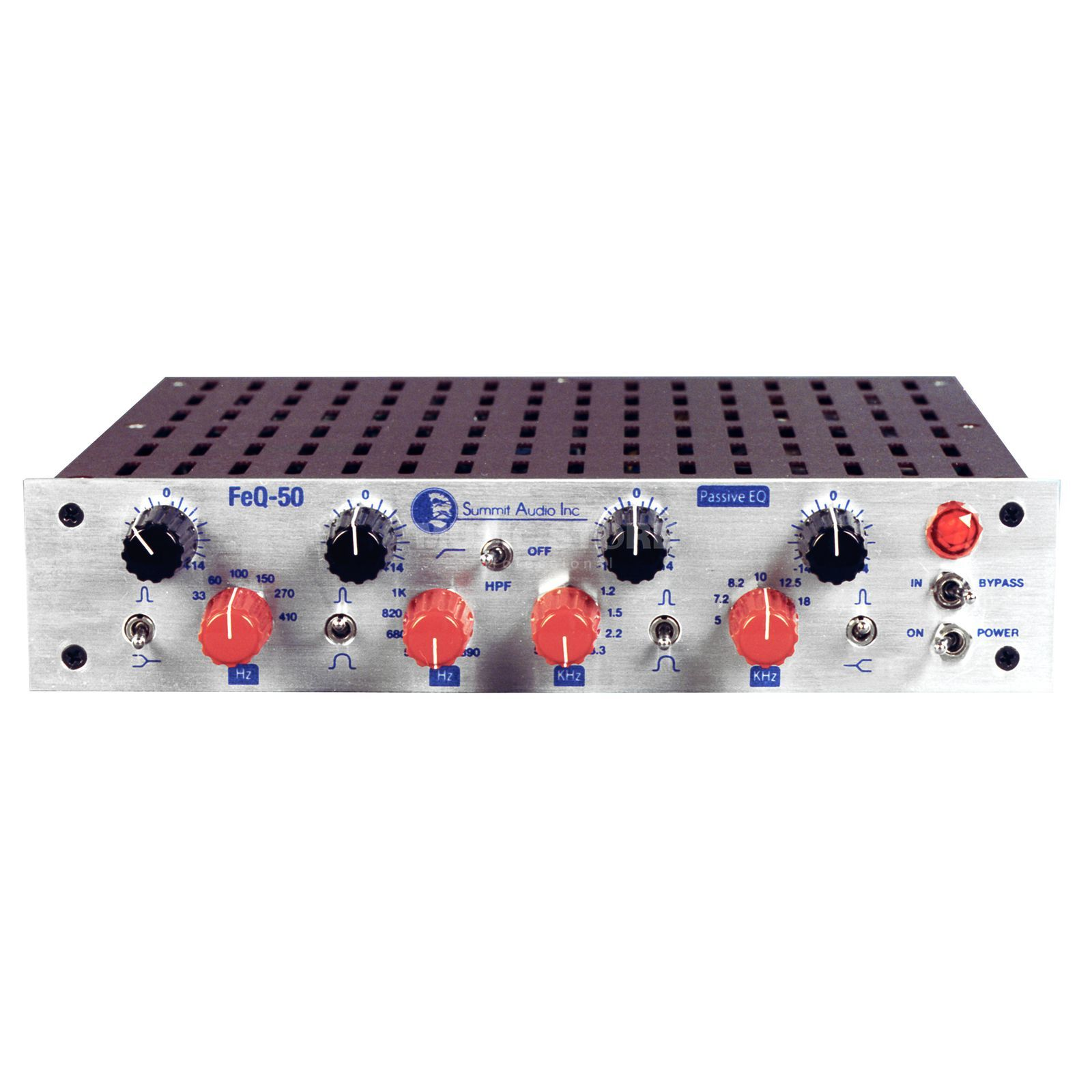 "Summit Audio FeQ-50 Tuben-EQ 4-Band, 1-Channel, 9.5"" 1HU Produktbillede"