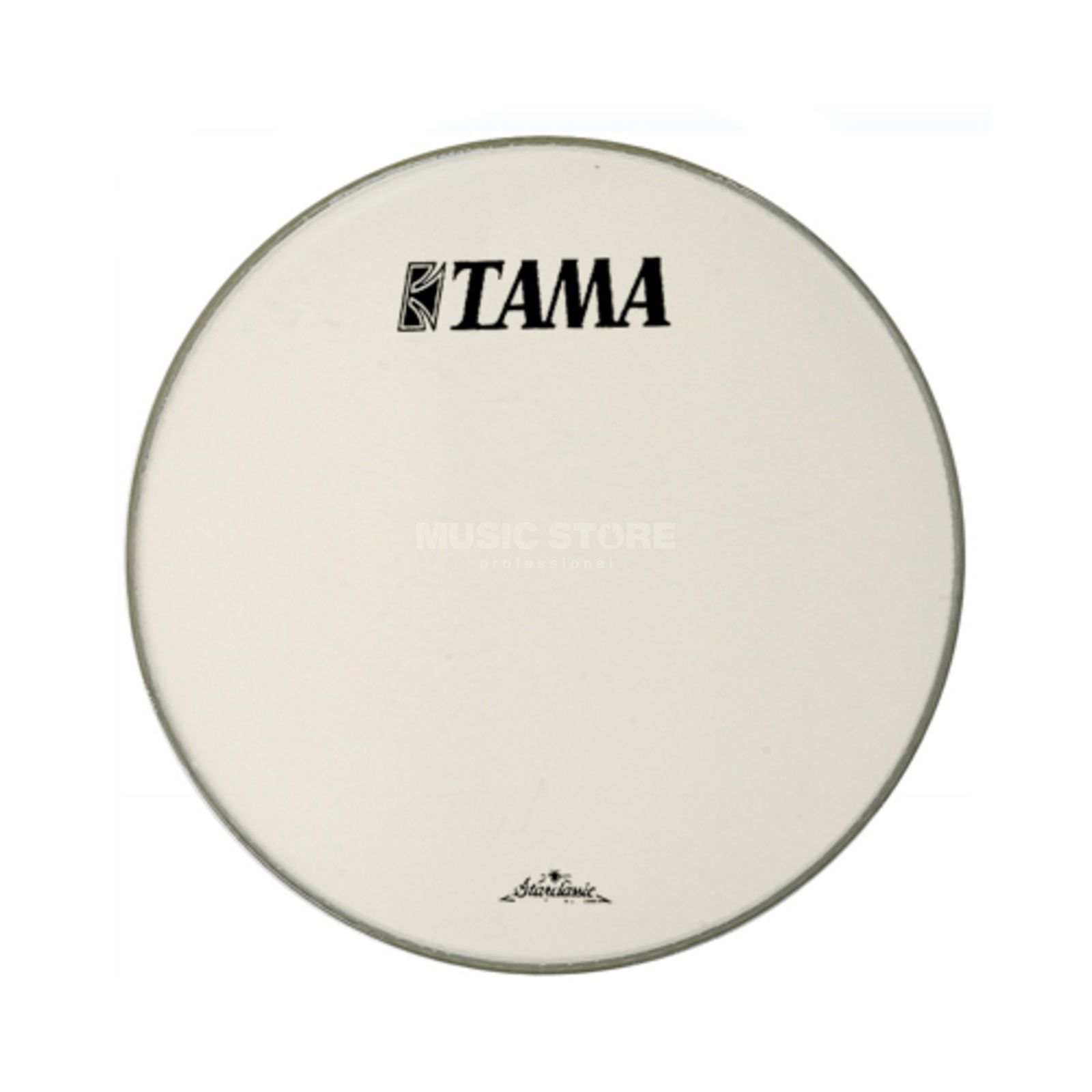 "Tama Bass Drum Front Head CT18BMOT, 18"", white, Starclassic logo Product Image"