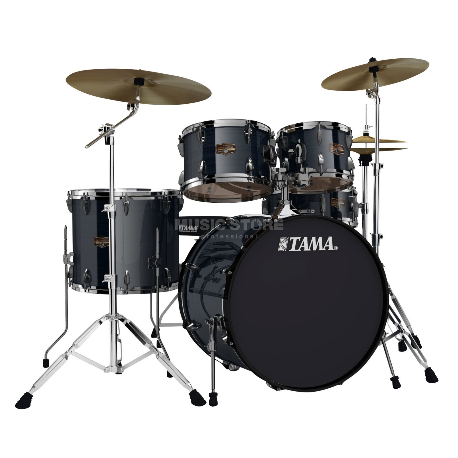 Tama Imperialstar IP52BHH6 Limited, Hairline Black #HBK, Black HW Produktbild