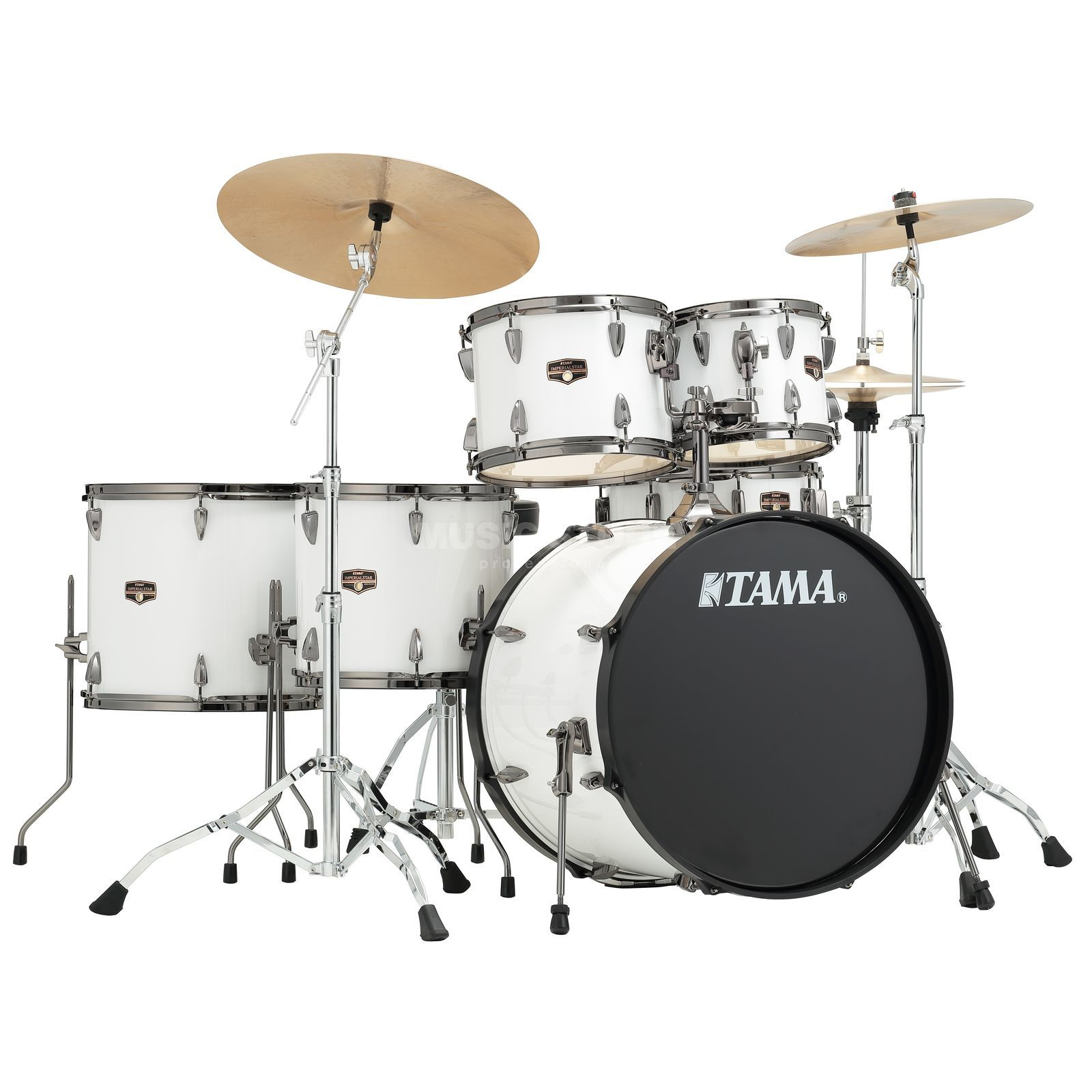 Tama Imperialstar IP62H6N, Sugar White, Black HW Product Image