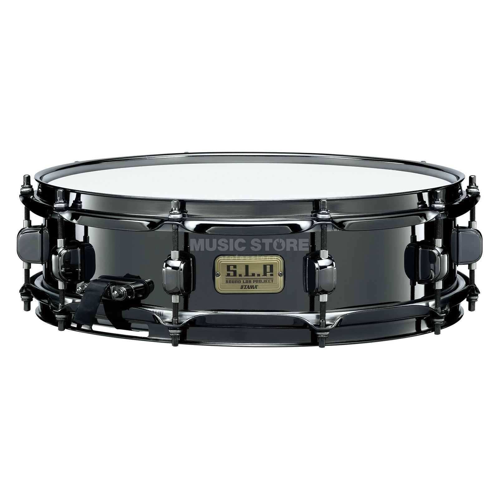 "Tama LBR144 S.L.P. Snare 14""x4"" Black Nickel Product Image"