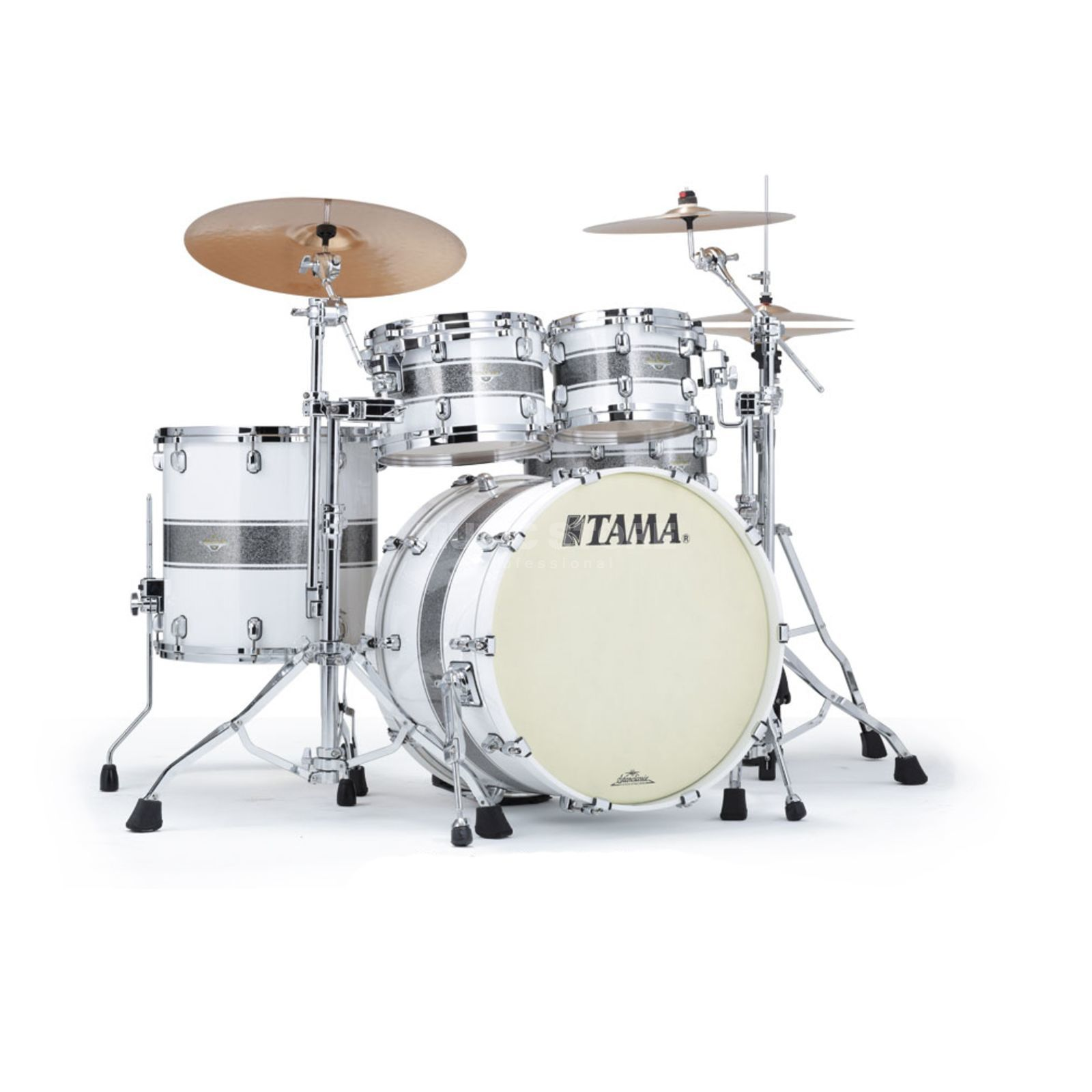 Tama SC Maple MA42TZS, Silver Snow Racing Stripe #SSR Produktbild