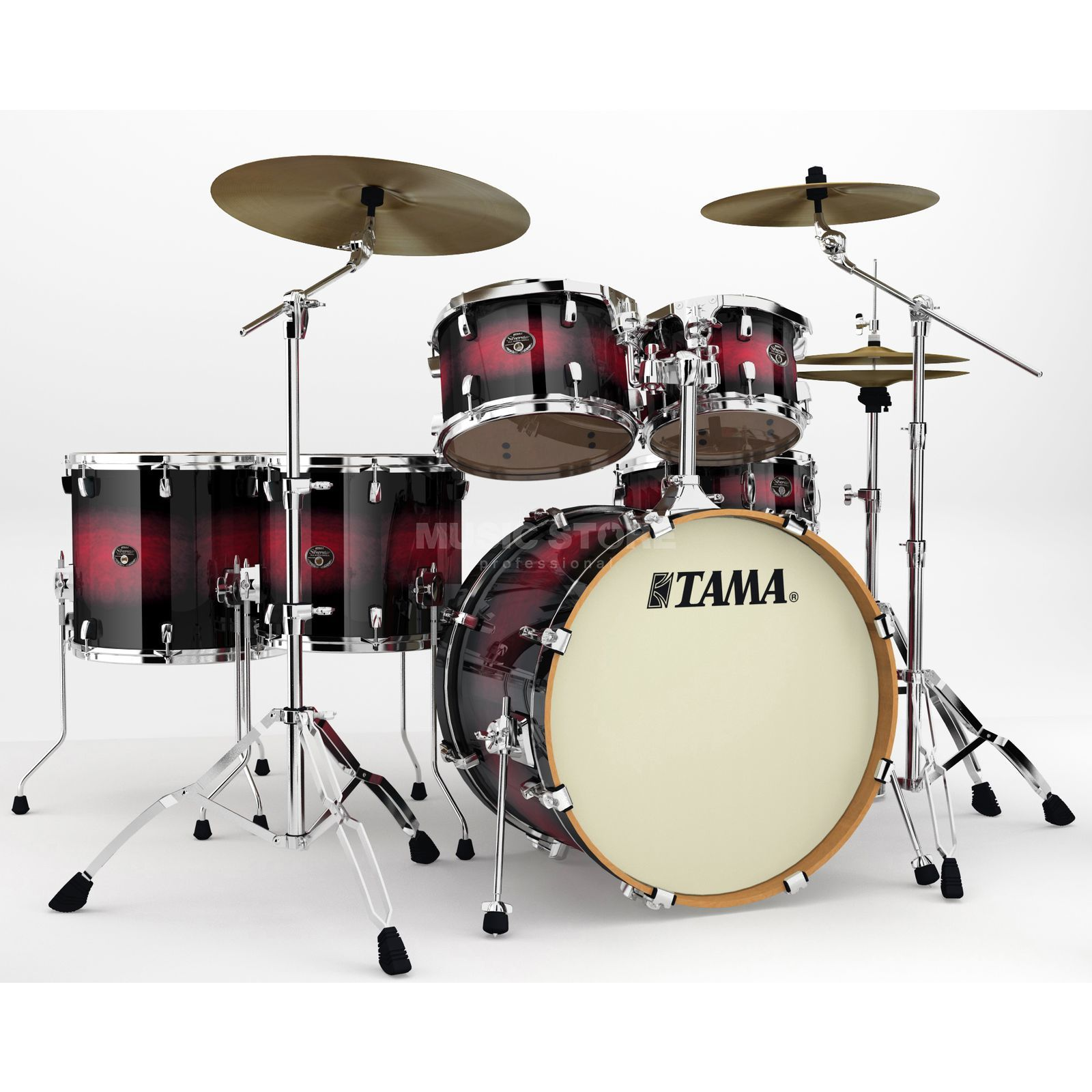 Tama Silverstar Custom VP62R, Transparent Red Burst #TRB Produktbillede