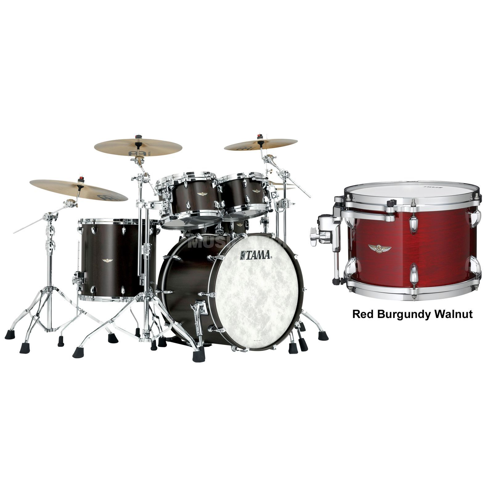Tama Star Walnut ShellSet TW42RZS, Red Burgundy Walnut #RBW Produktbild