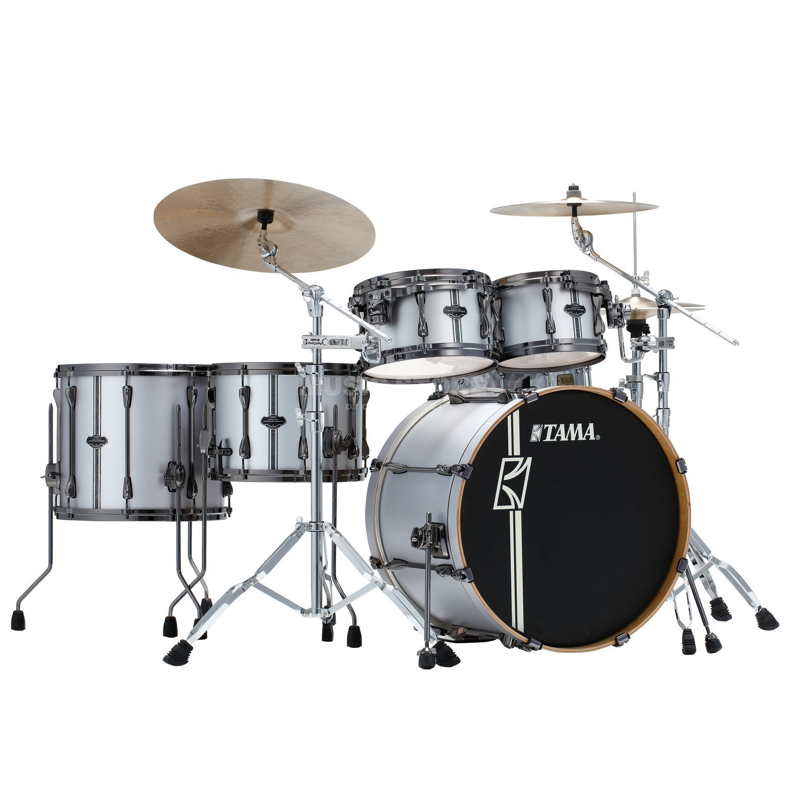 Tama Superstar HD Duo Kit ML52HZBN2 Satin Silver Vertical Stripe Product Image