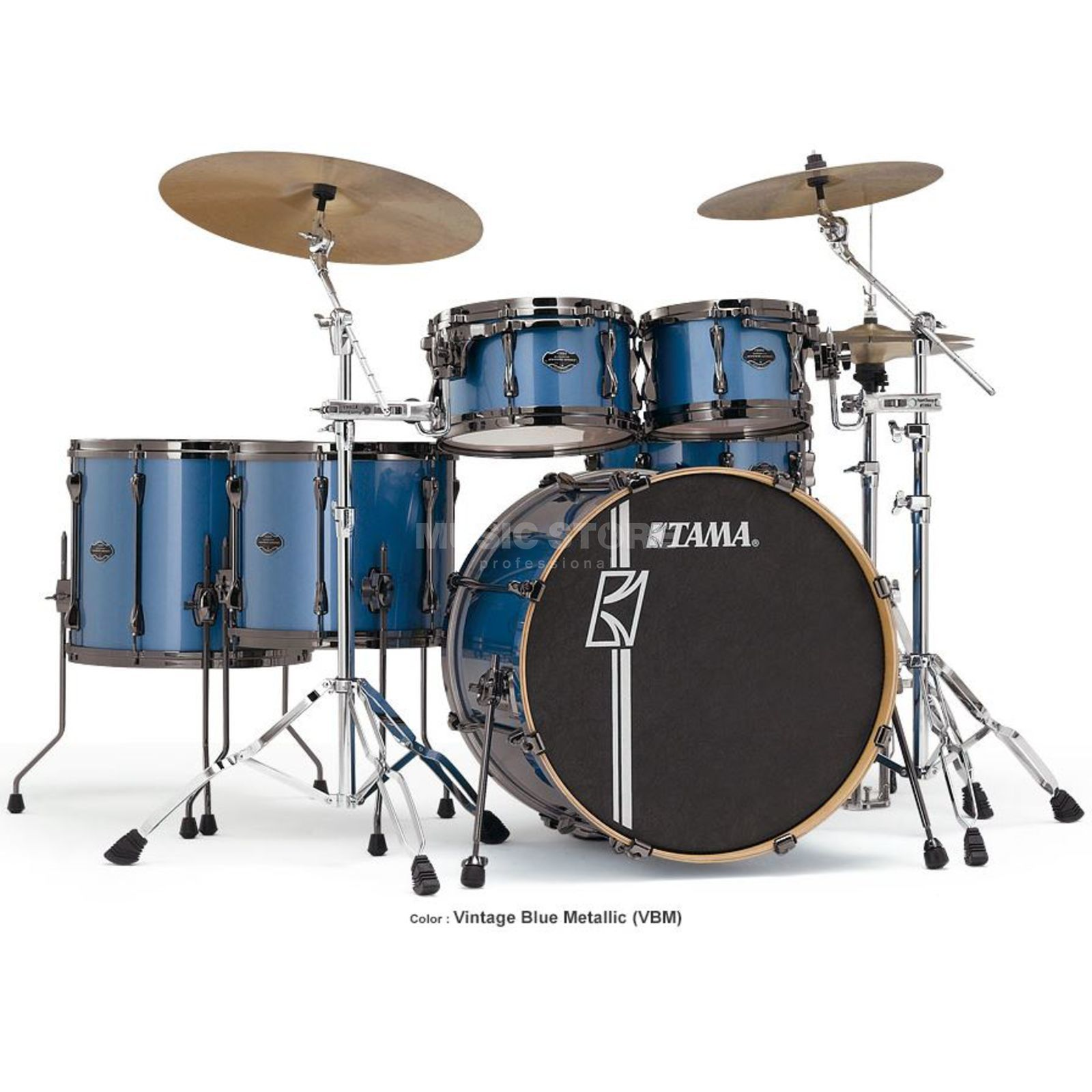Tama Superstar HD Maple ML52HZBN, Vintage Blue Metallic, VBM Imagem do produto