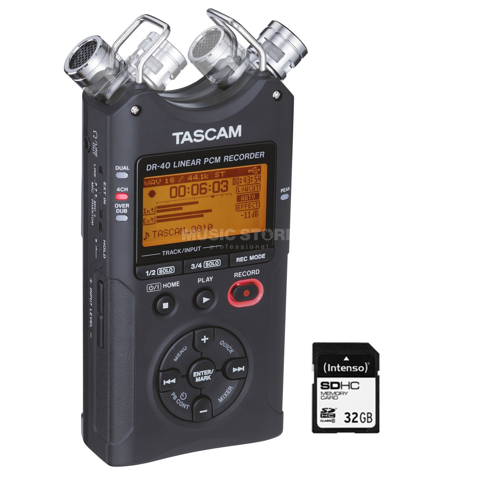 Tascam DR-40 + 32GB SD-Card - Set Produktbillede