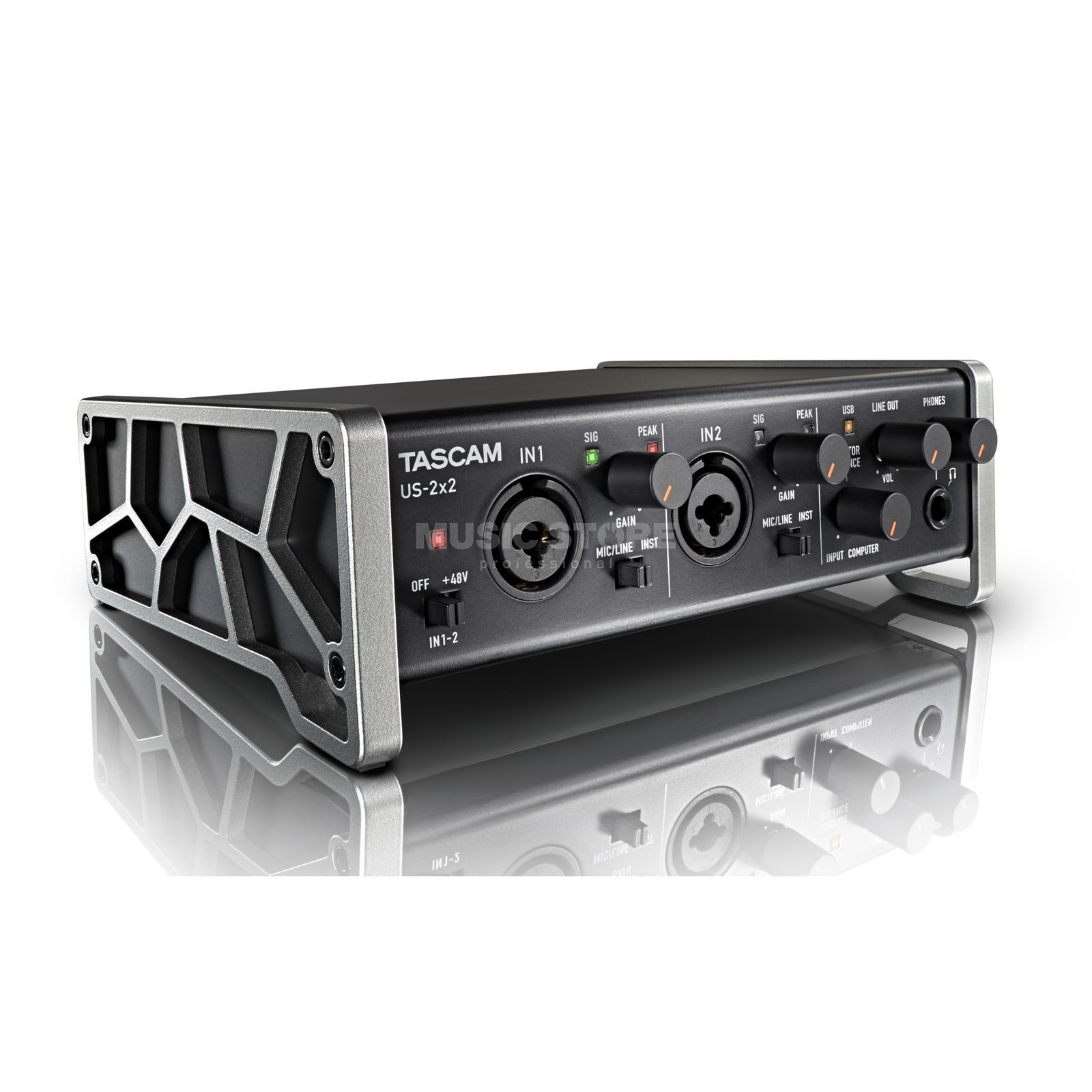 Tascam US-2x2 USB Audio Interface Produktbillede