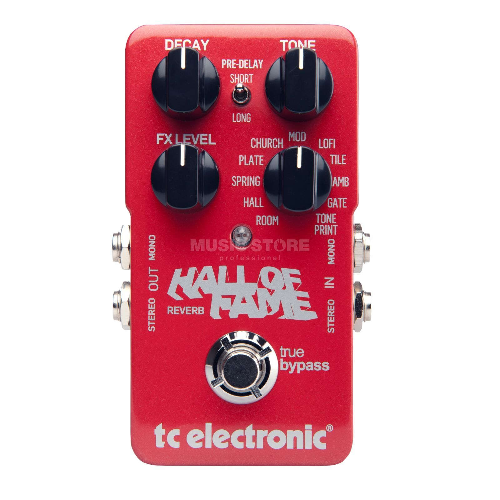 TC Electronic Hall Of Fame Reverb Guitar Eff ects Pedal   Produktbillede