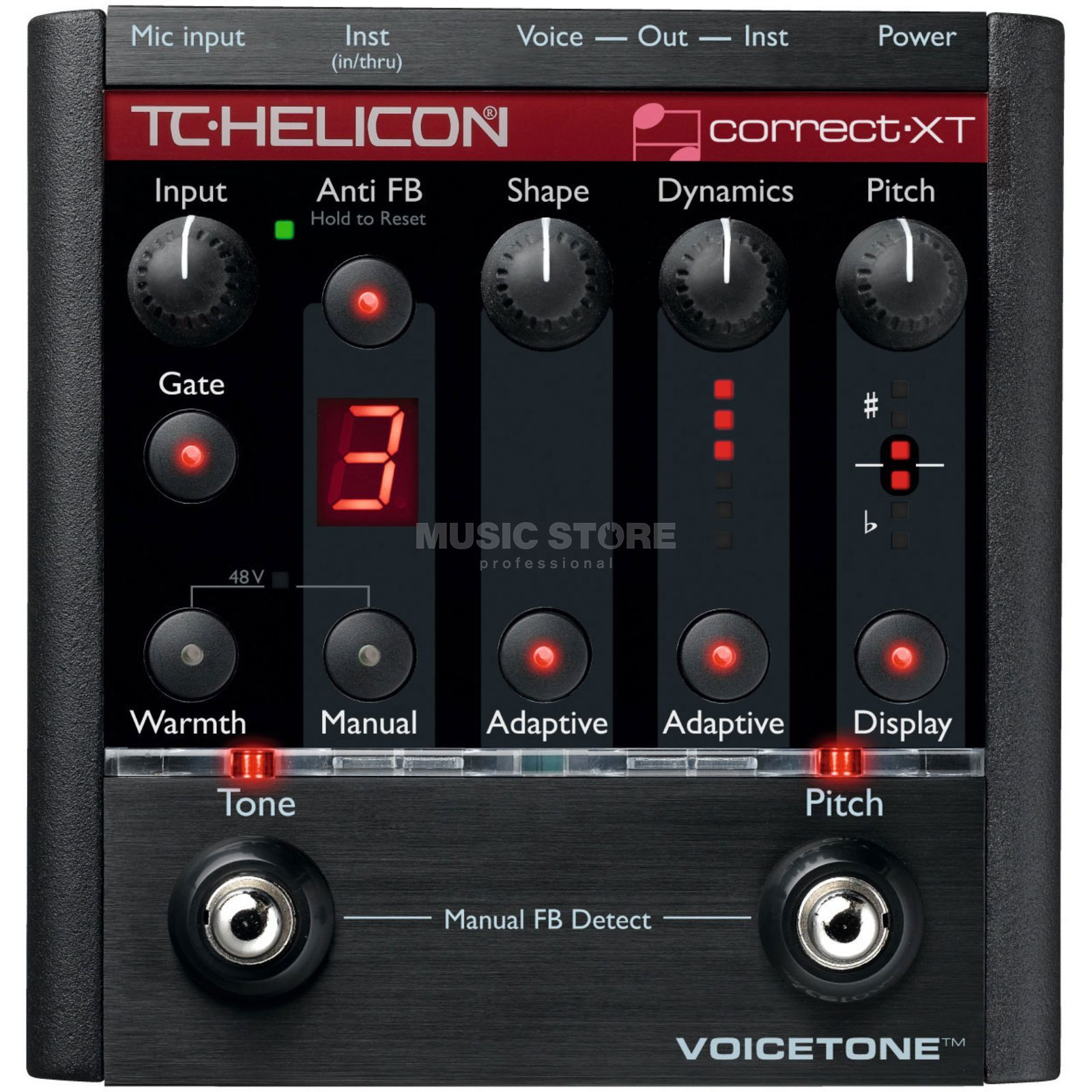 TC-Helicon VoiceTone Correct XT Pitch Correction Pedal Produktbild