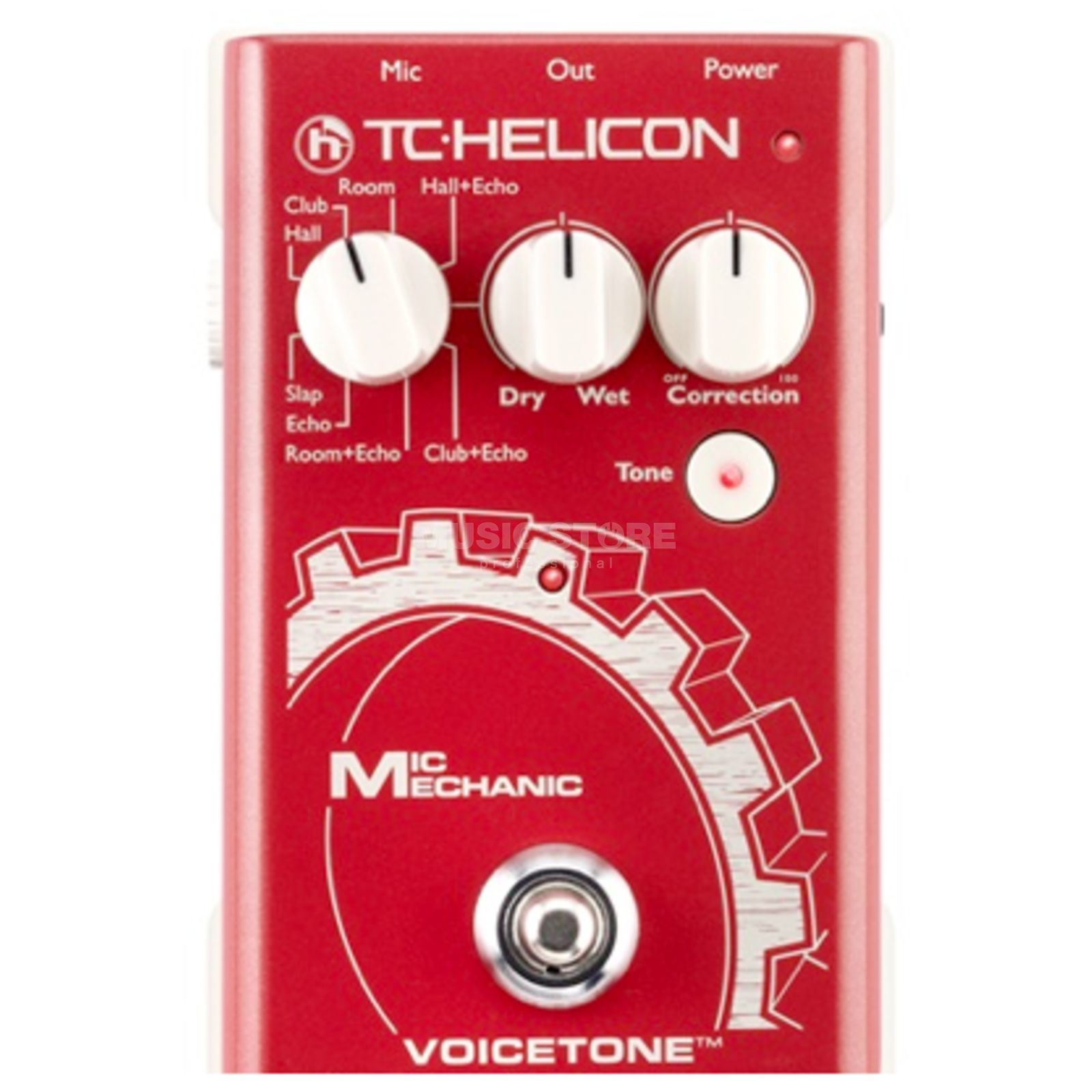 TC-Helicon VoiceTone Mic Mechanic Vocal Effects Pedal Produktbillede