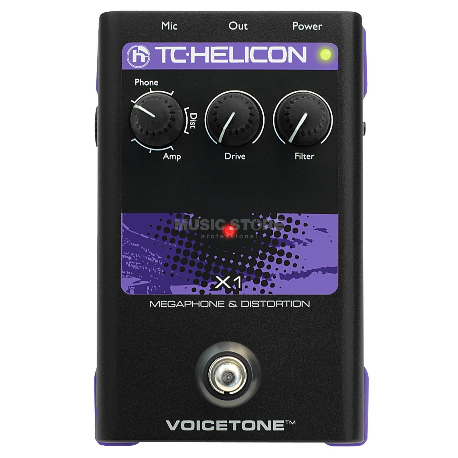 TC-Helicon VoiceTone X1 Distortion Vocal Effects Pedal Product Image