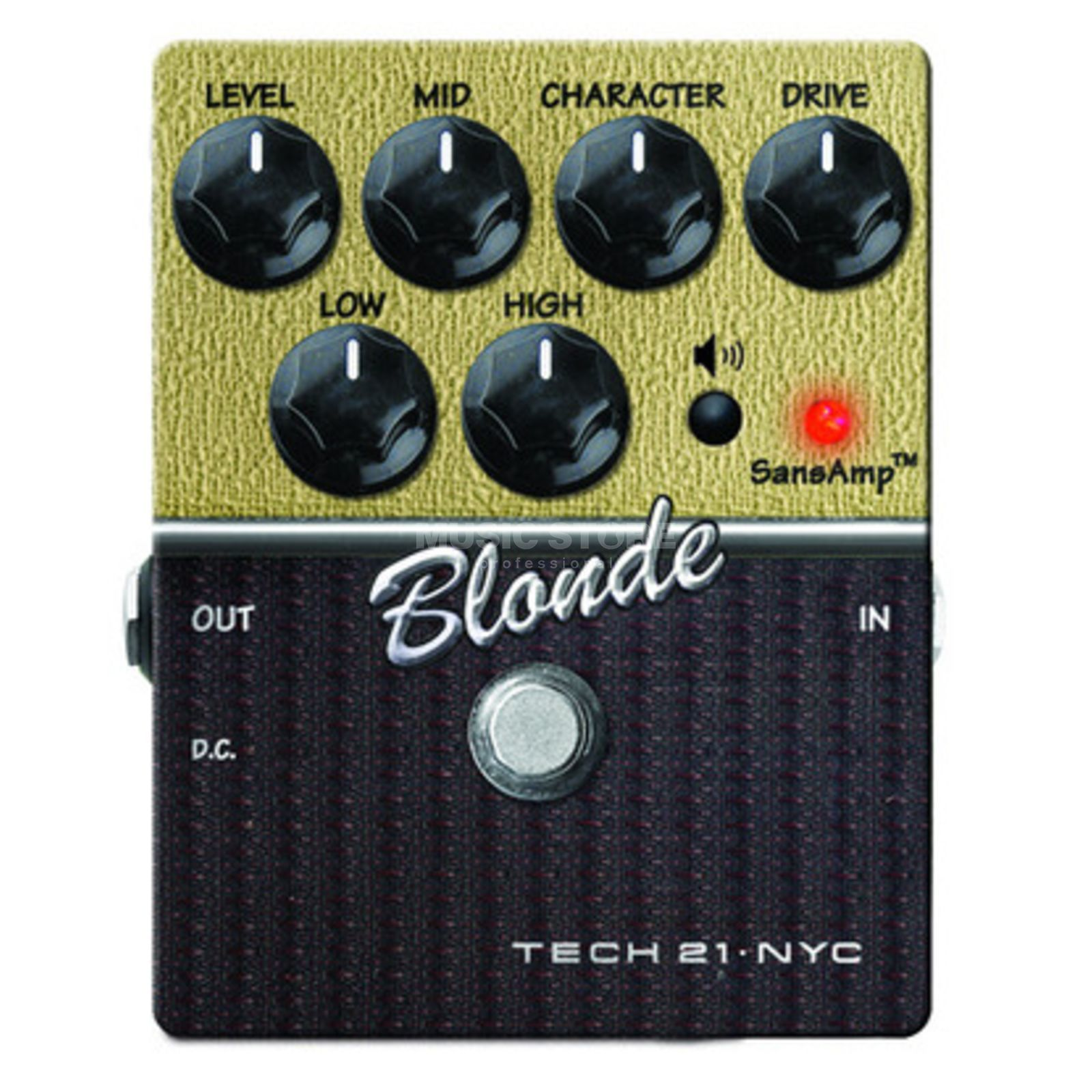 Tech 21 SansAmp Blonde Guitar Amp Mode ler Pedal   Produktbillede