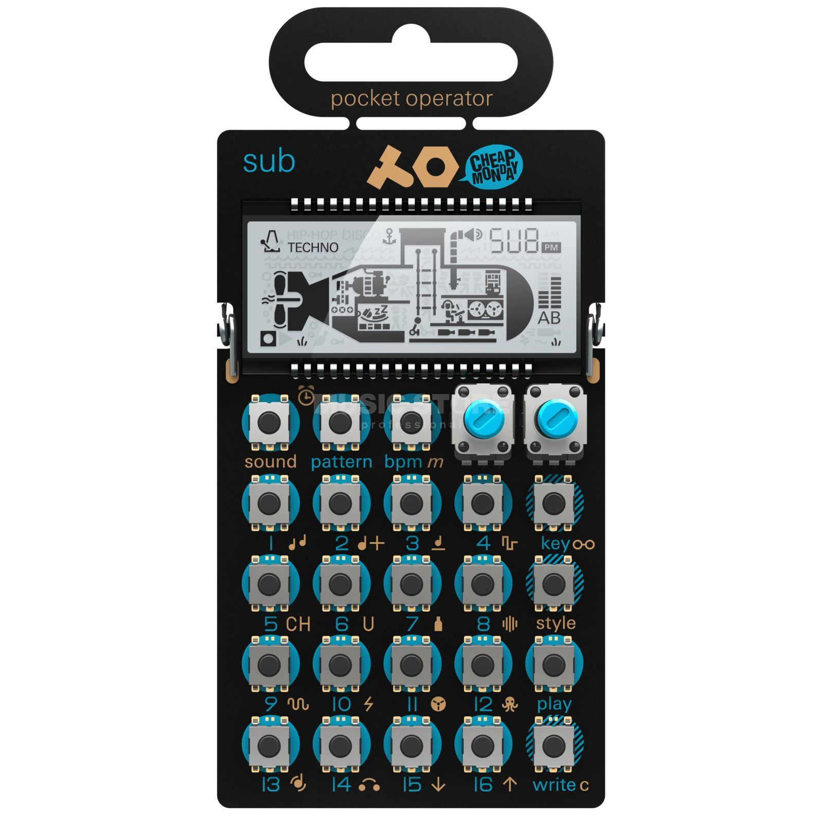 Teenage Engineering PO-14 sub Bass Synthesizer Produktbillede