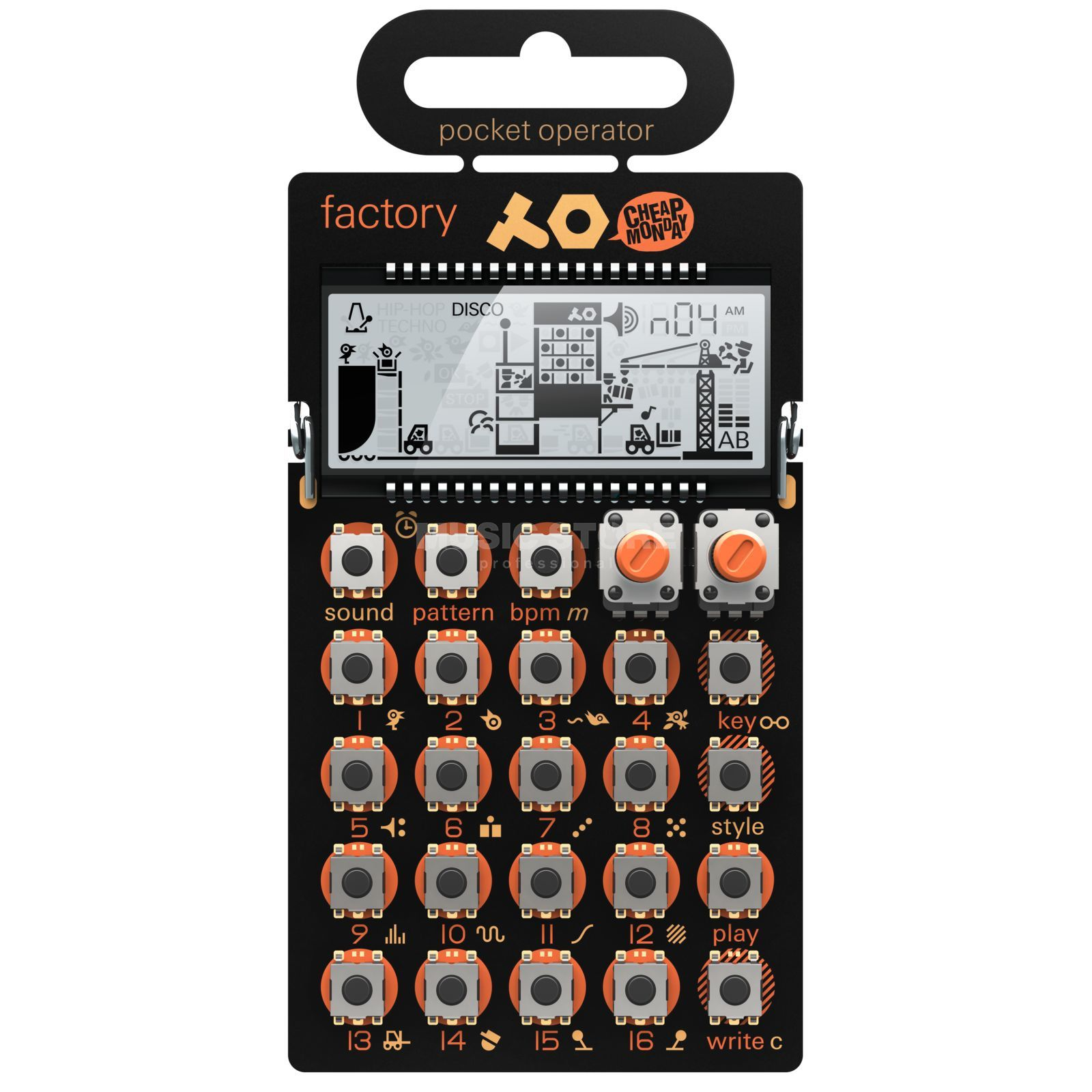 Teenage Engineering PO-16 factory Produktbild